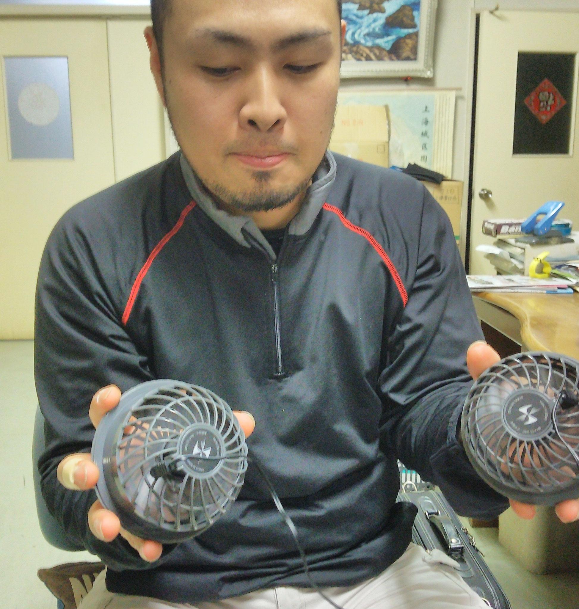 SK-7 ファンセット ¥3,990(税込)わりと音も静かで、しっかりとファンが回ります。石口さんも、太鼓判を押してくれました。
