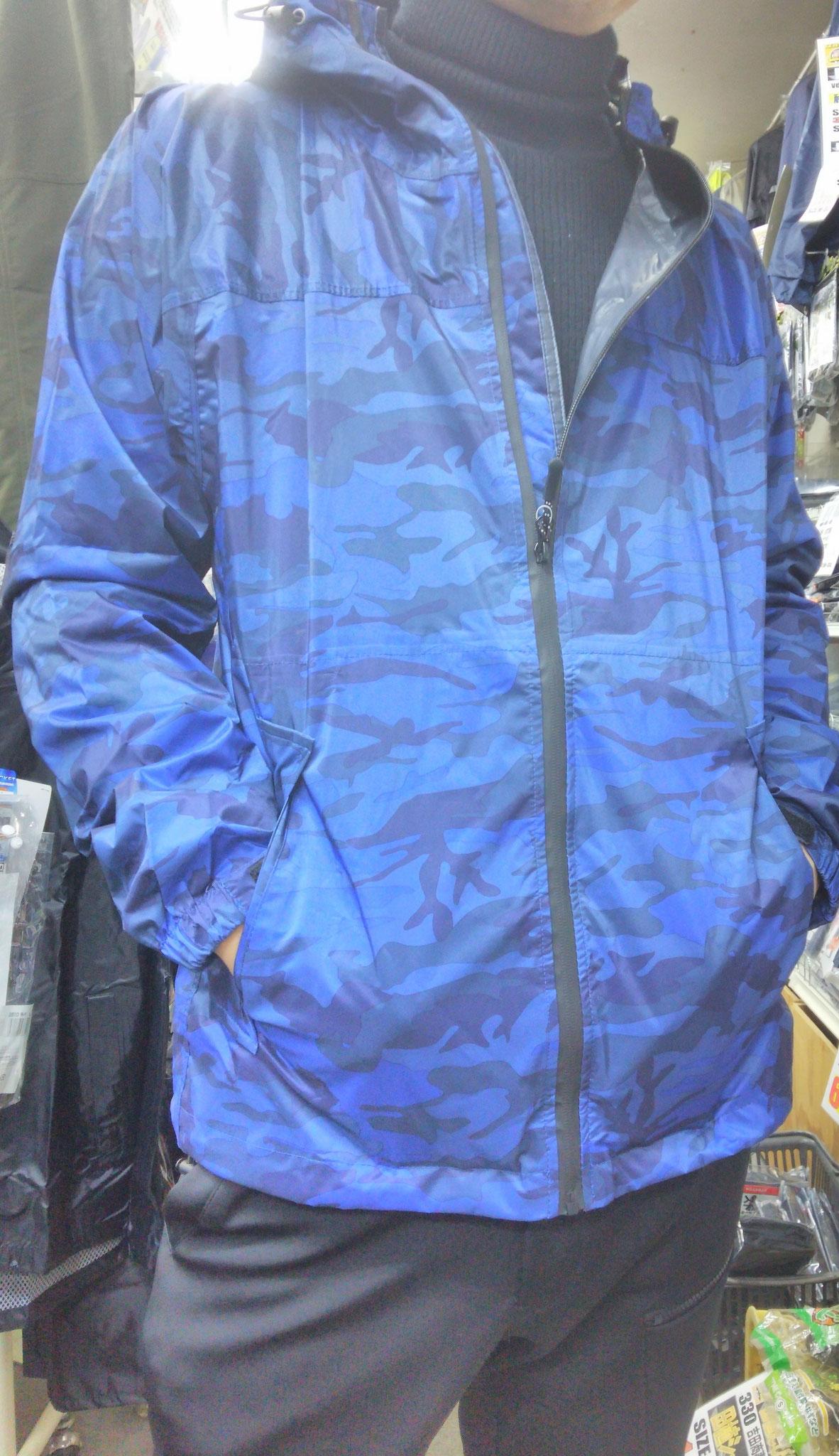 7570 ストレッチシールドジャケット ¥2,990(税込)=着てみました=ちょー着やすく、ぶち軽いです。