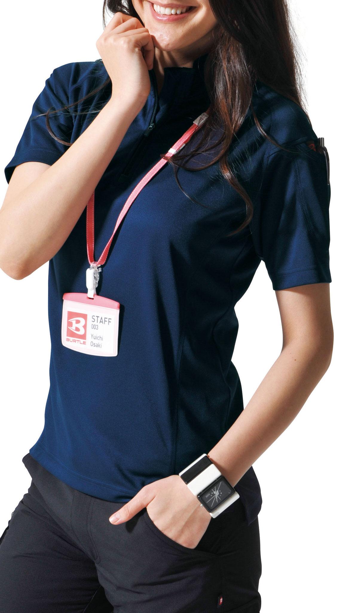 BURTLE 415 半袖ジップシャツもあります。こちらも地域1番やしー価格 ¥1,595(税込)で販売中!!