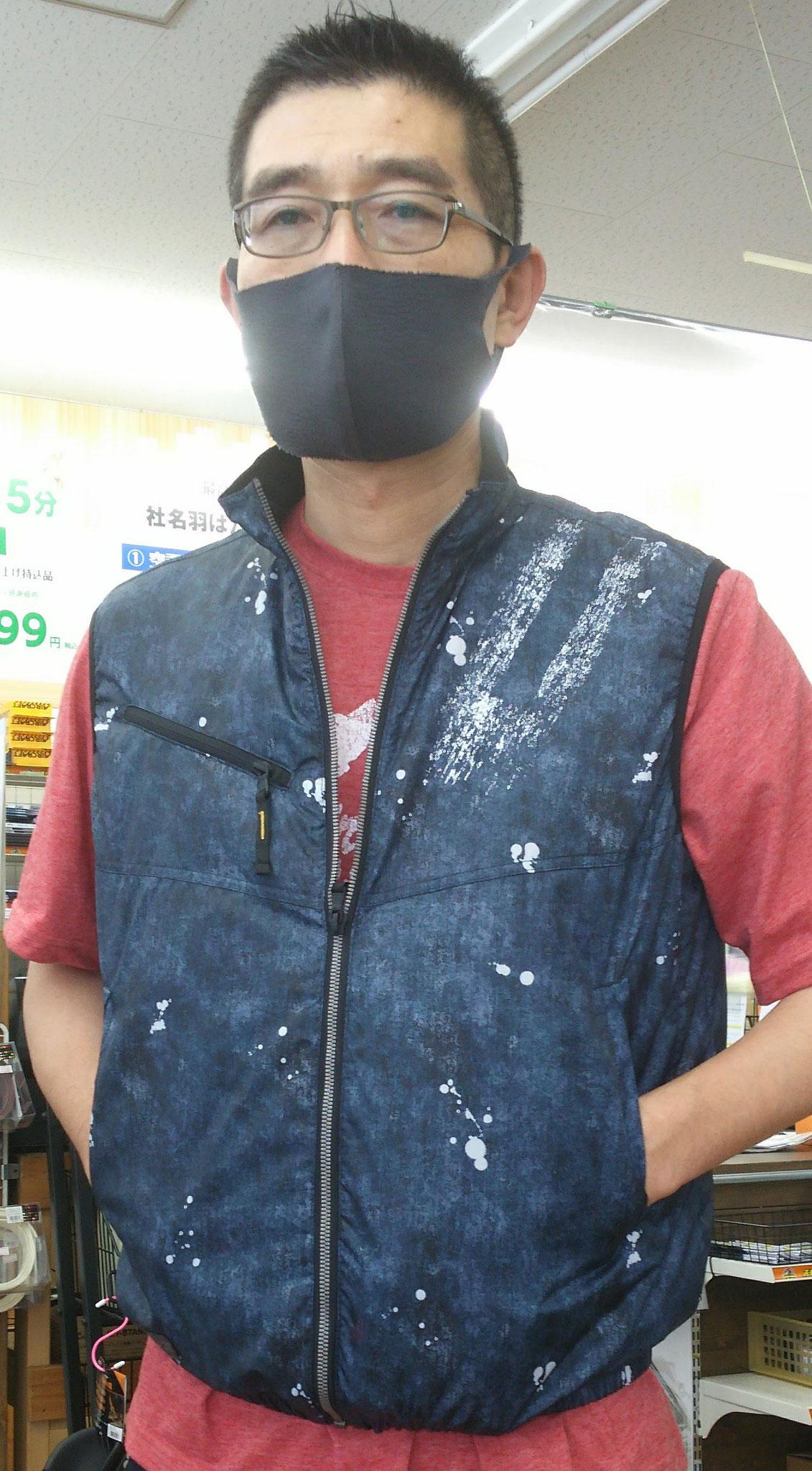 50187 デニム調ベスト ¥3,500(税込)