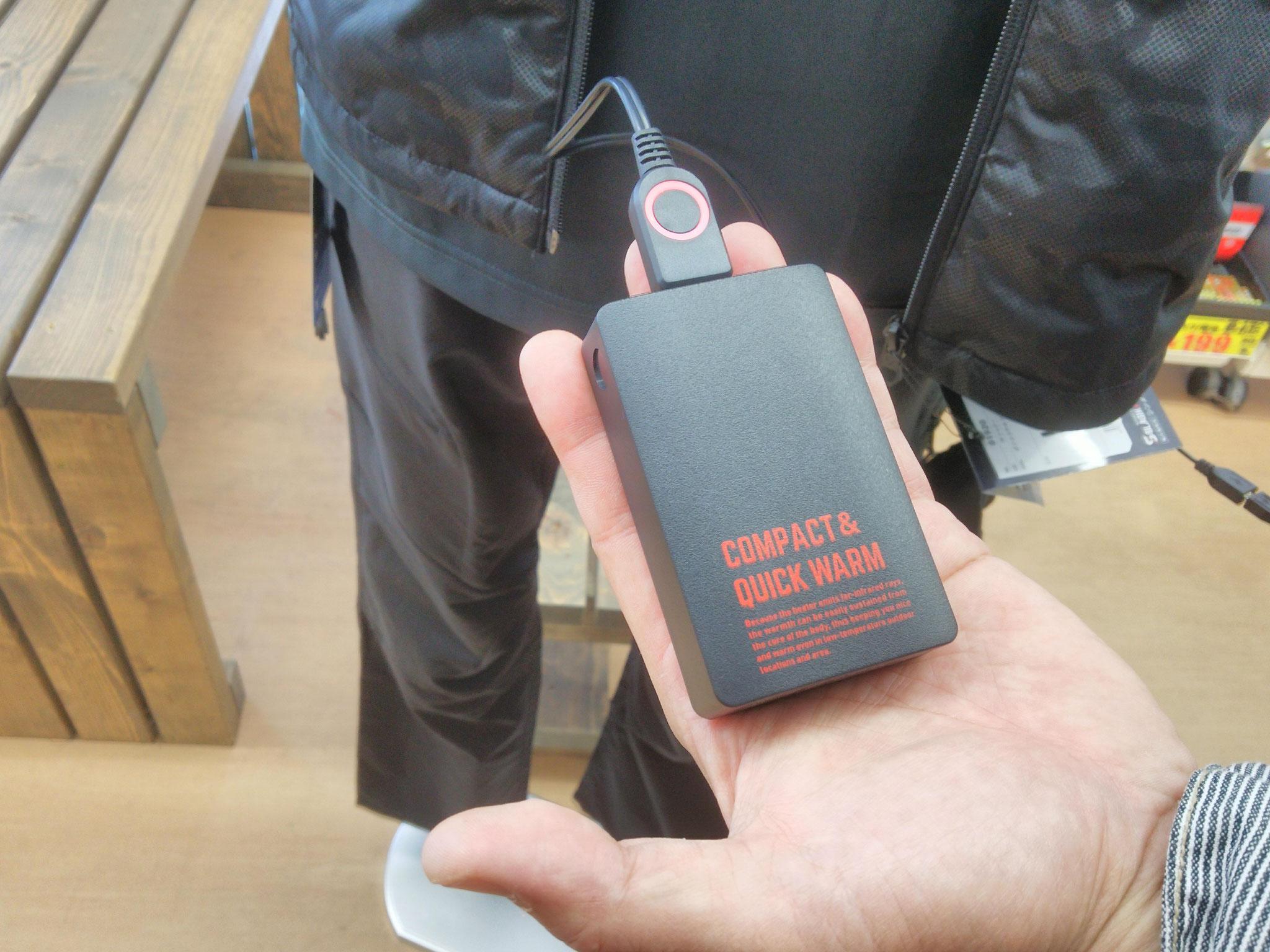 S-HEAT~エス・ヒート~暖房ベスト 暖房専用バッテリー