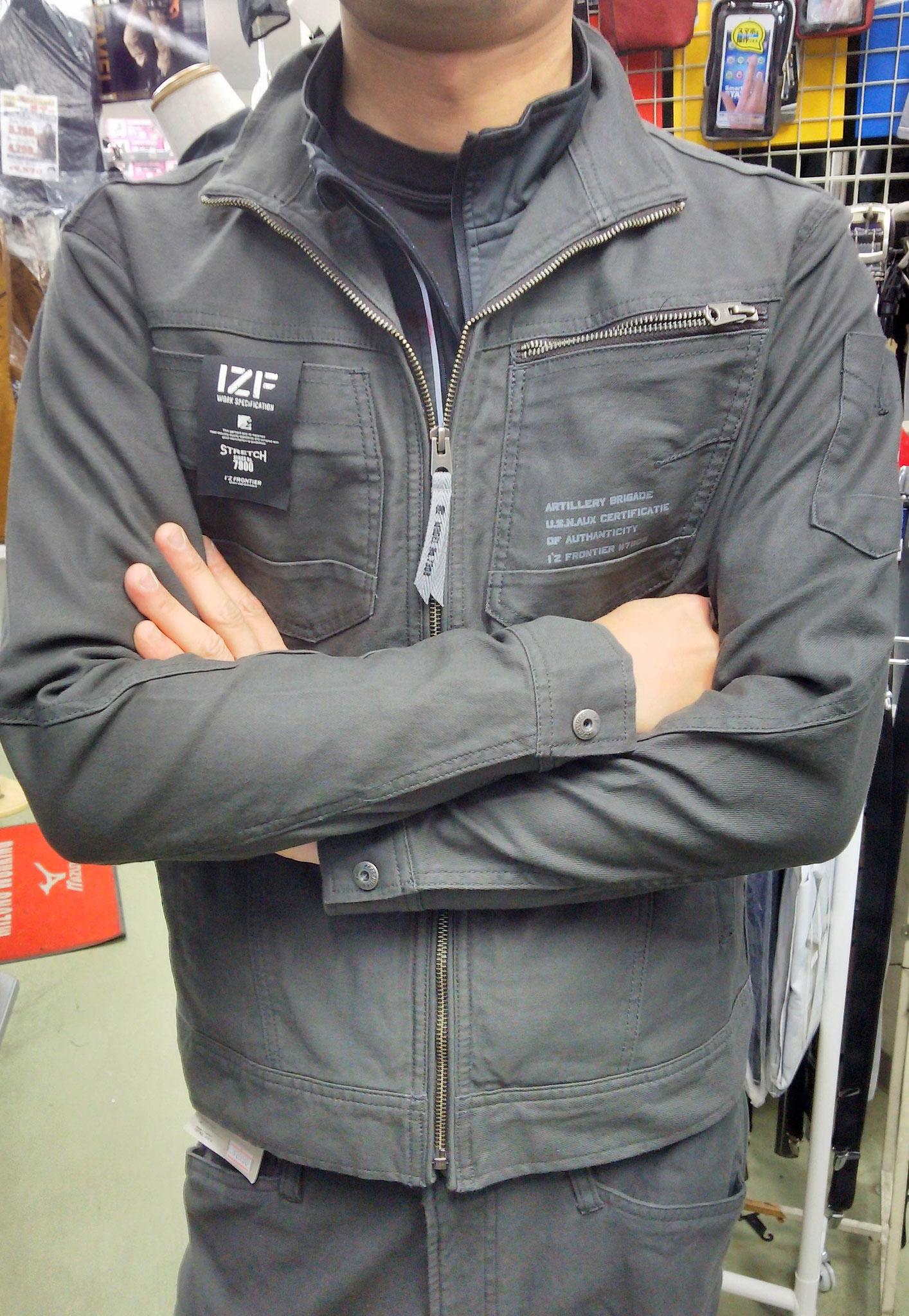 I'Z FRONTIER~アイズフロンティア~ 7908 SERIES 着てみました。柔らかい生地で、体に馴染みます。