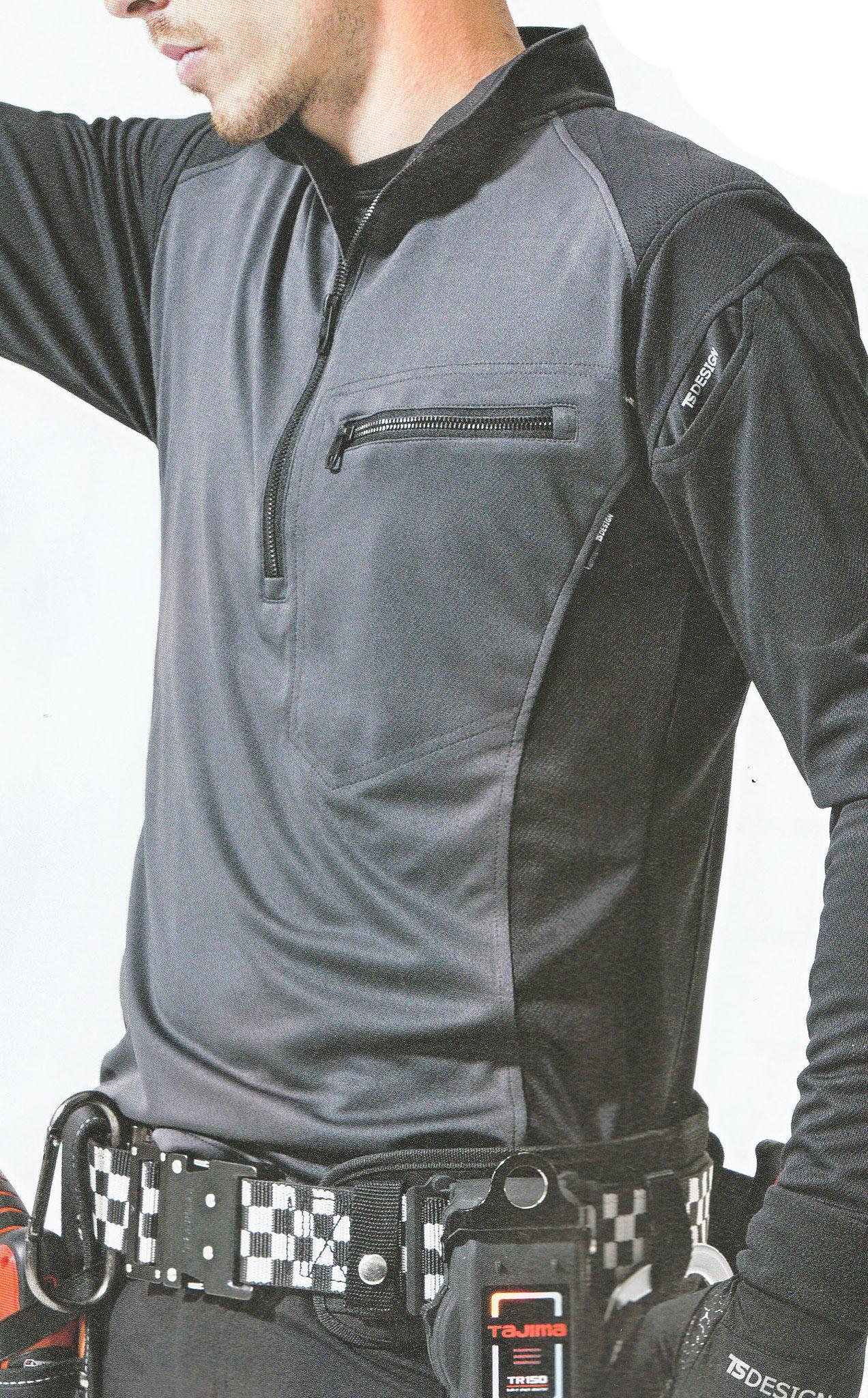 846305 ワークニットロングシャツ ¥3,290(税込)先鋭的なカッコいいデザインが人気です。