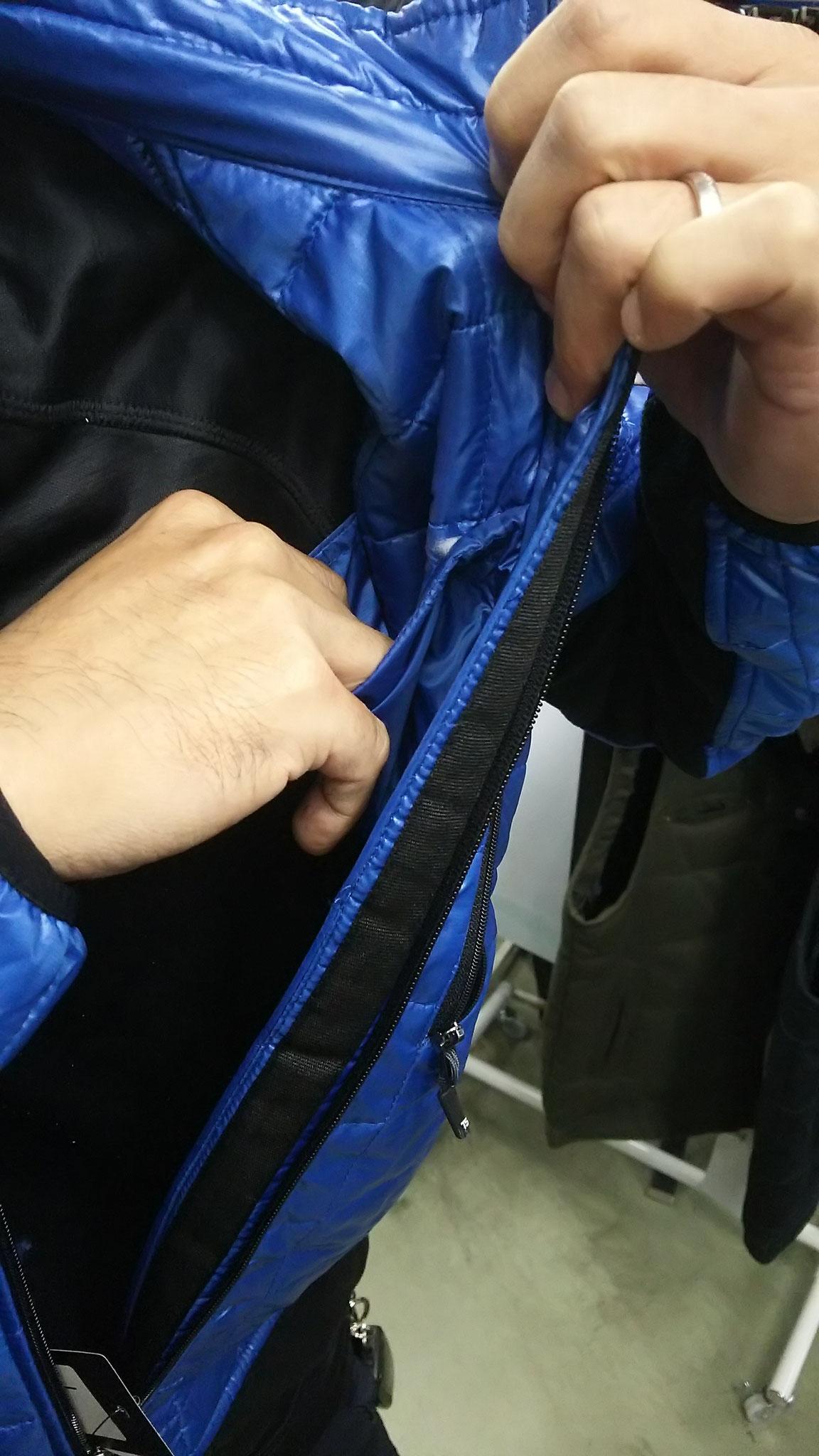 TS DESIGN  4226 マイクロリップ   着てみました。左の内ポケットは、サイフが十分入ります。
