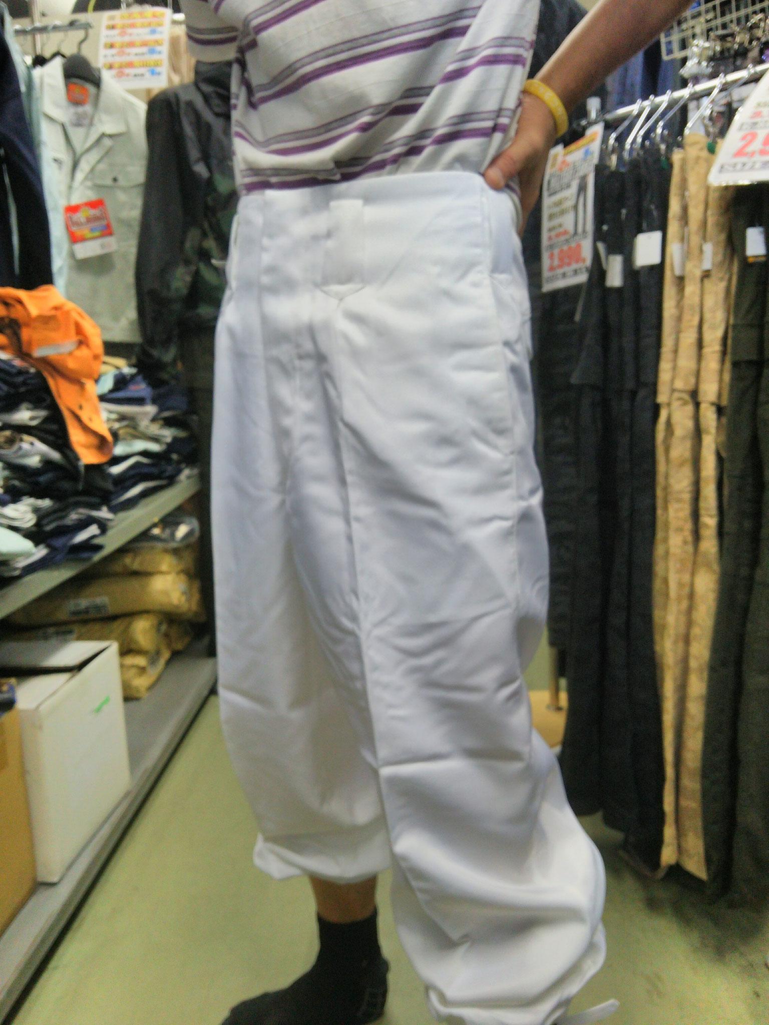 祭り白ニッカ ¥1,990(税込)祭りと言えば、白ニッカズボン!!73cm-110cmまで