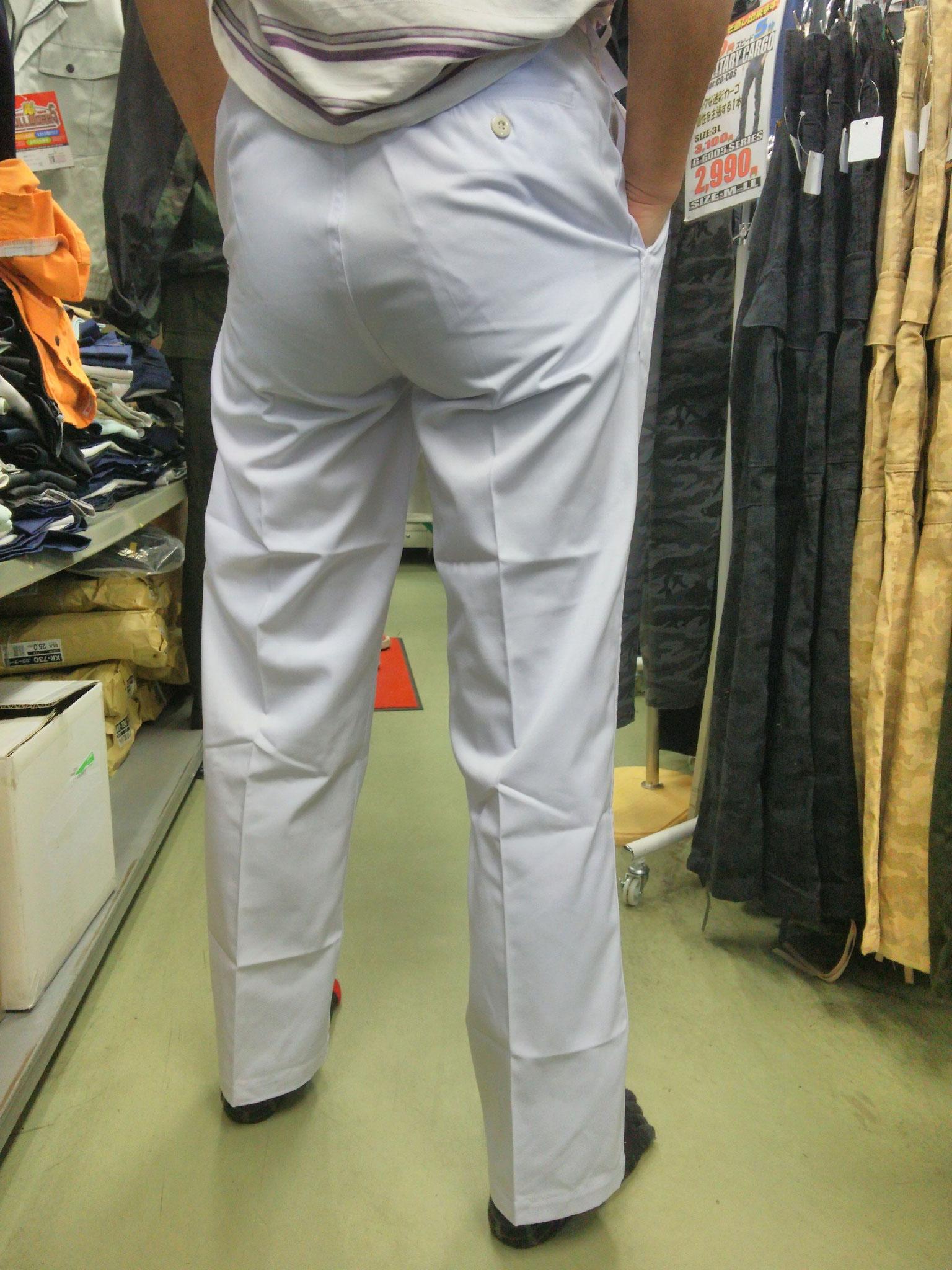 祭り用白ズボン 後ろはこんな感じです。