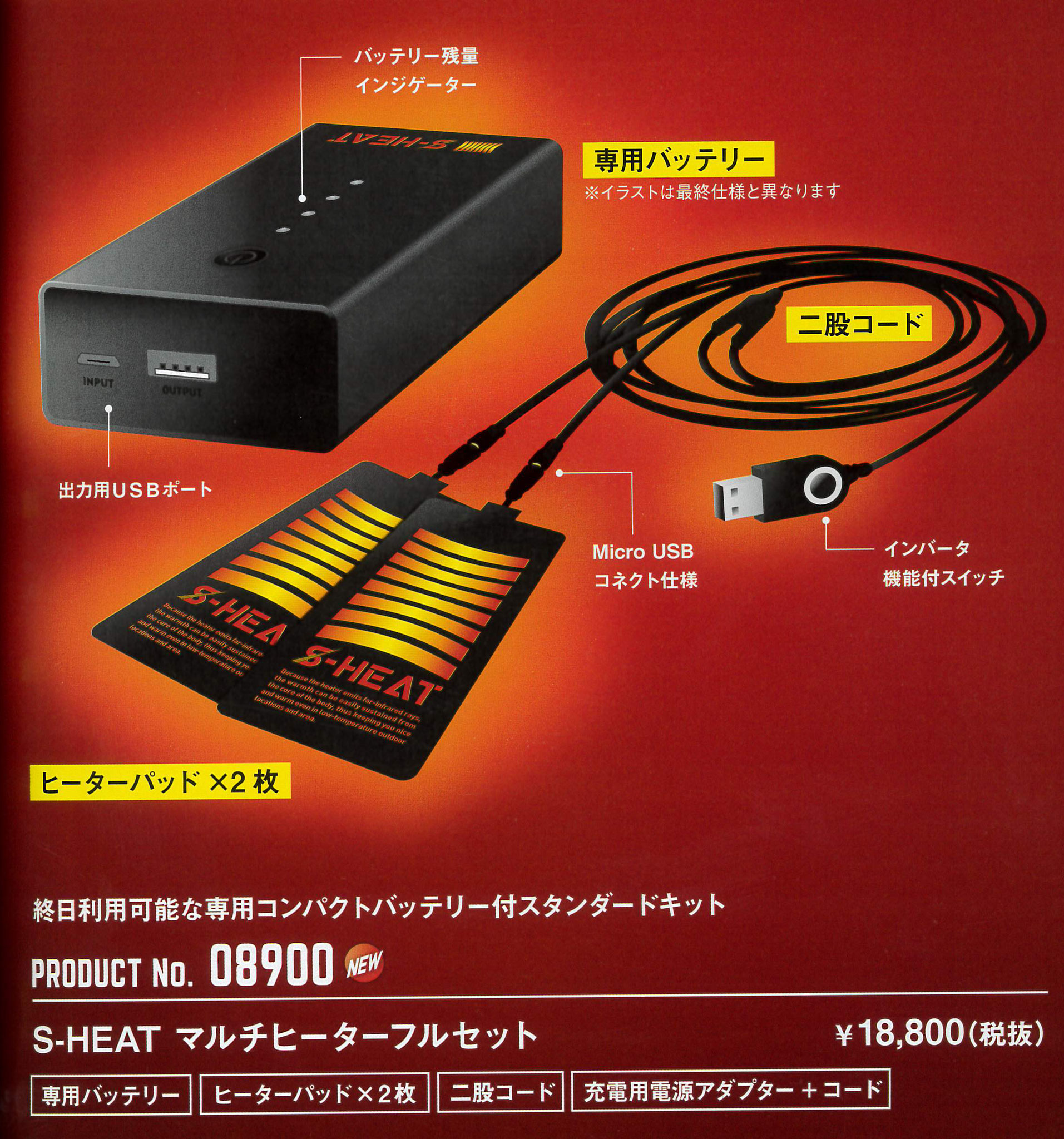 S-HEAT~エス・ヒート~暖房機器 08900シリーズ。10秒で暖かさを実感