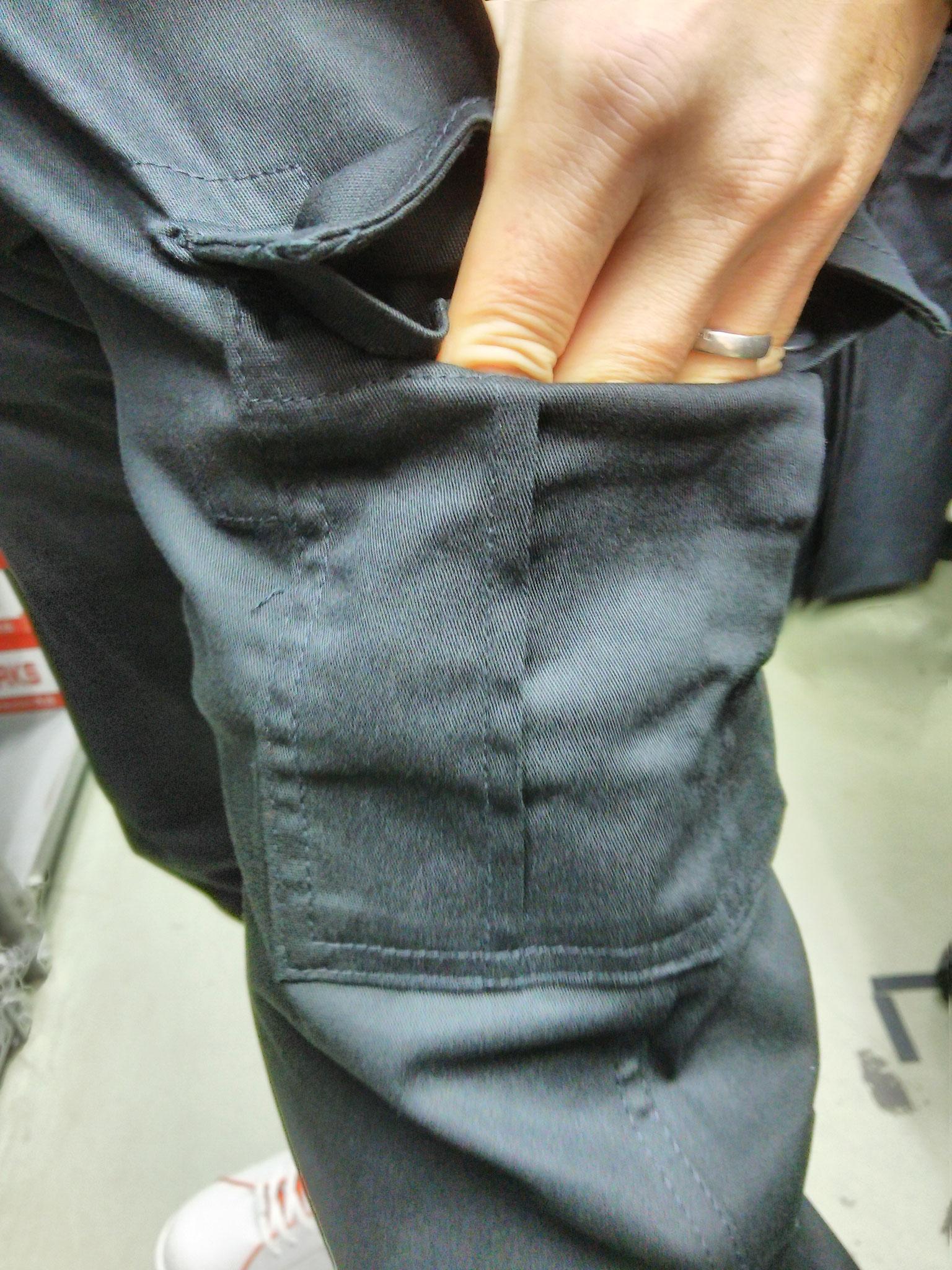GLADIATOR G-5005  スタイリッシュカーゴ はいてみました。ポケットも実用的な大きさです。スマホもOKですね。