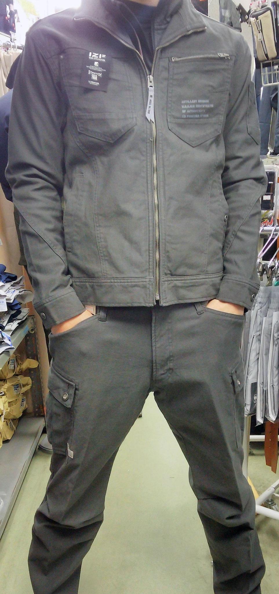I'Z FRONTIER~アイズフロンティア~ 7908 SERIES 着てみました。3Dカッティングなので、着ていて楽です。