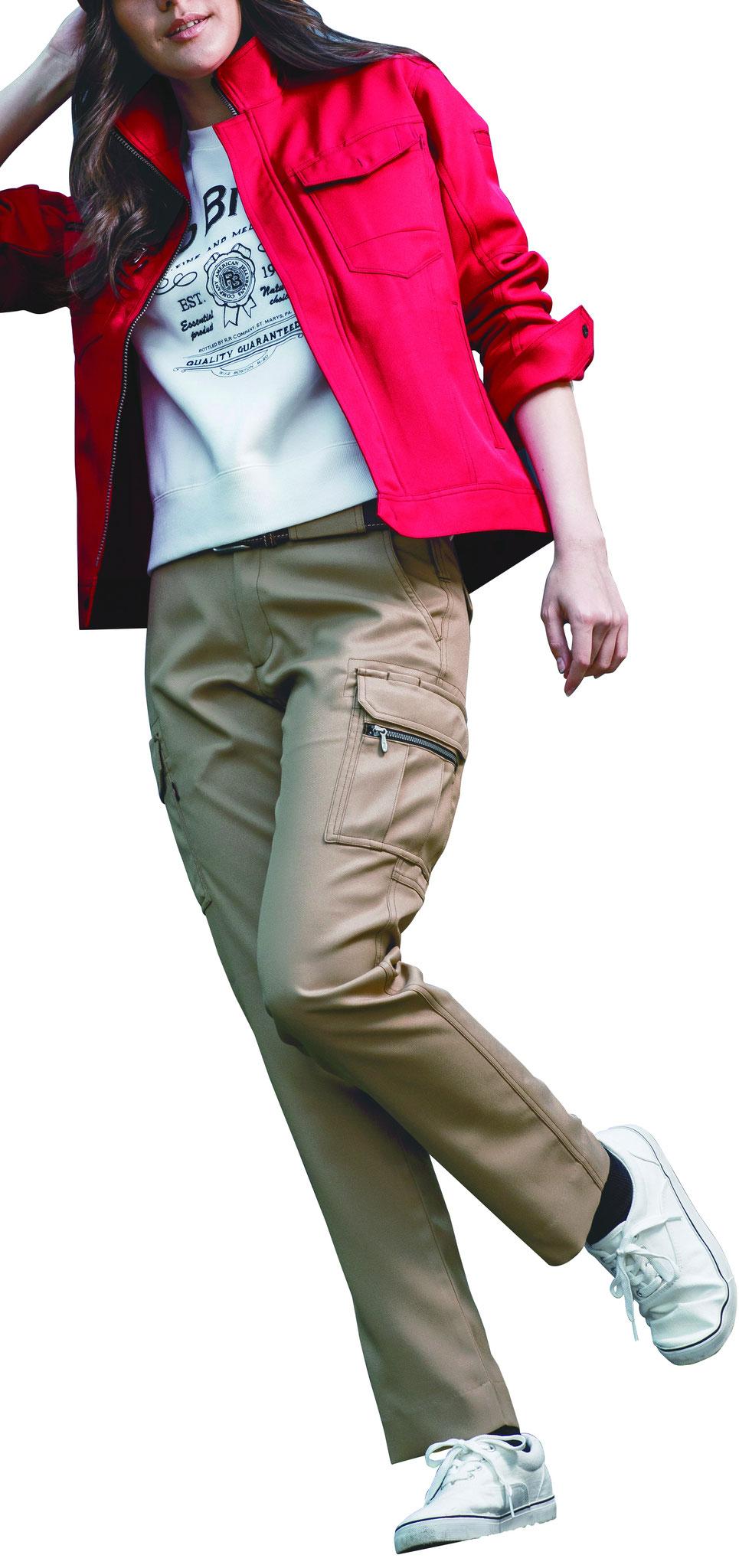 BURTLEバートル~ 7089 レディースカーゴパンツ ¥2,530(税込)サラッと履きやすく、人気です。