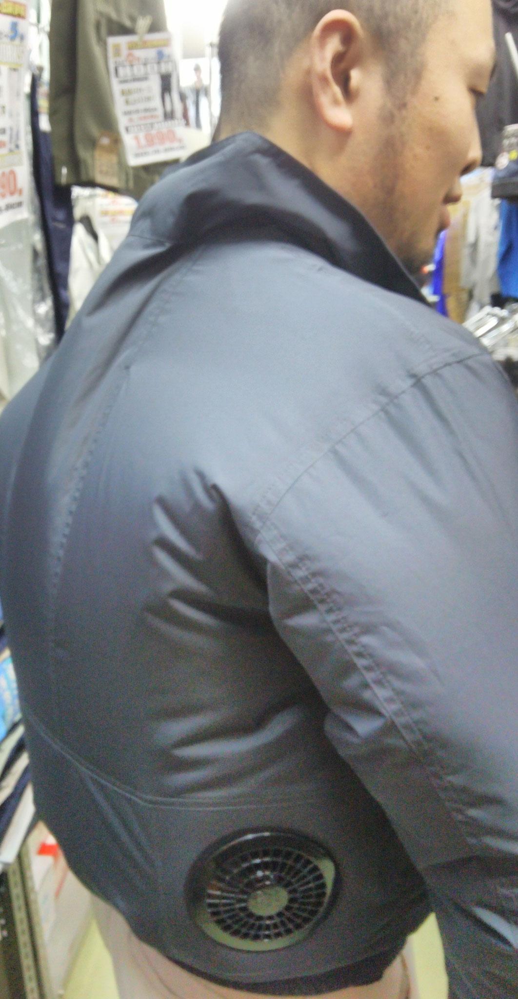 88300  エスエアーブルゾン ¥2,990(税込)しっかりと風を体へ送り込みます。モデル モデルbyシンメン 石口  さん