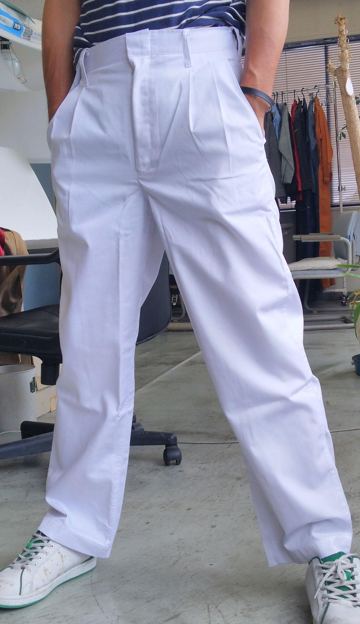祭り用白ズボン サイズ 73cm-111cm まで品揃えしております。