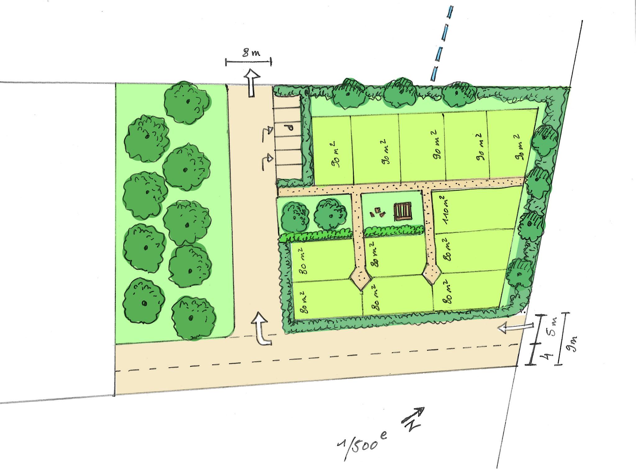 Plan jardins partagés sur la Jarne