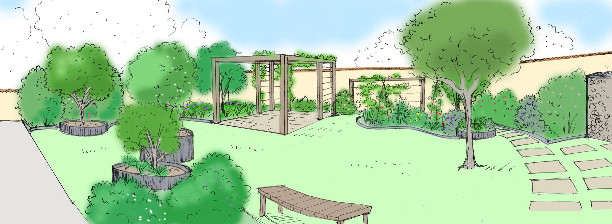 Jardin comestible pour maison passive