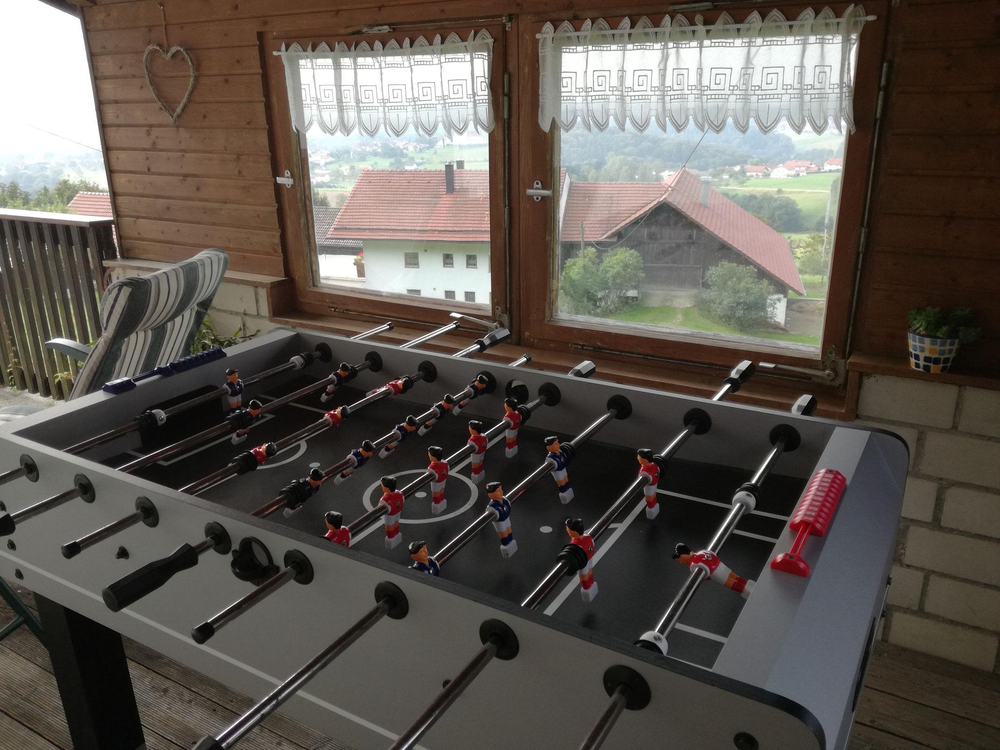 Tischfußball - auf der Terrasse im Haus Fernblick
