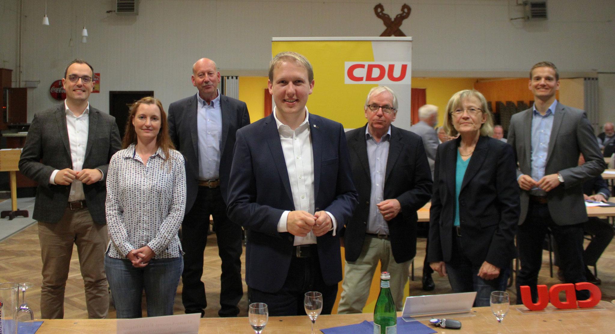 Der neue Vorstand beim Kreisparteitag 2020