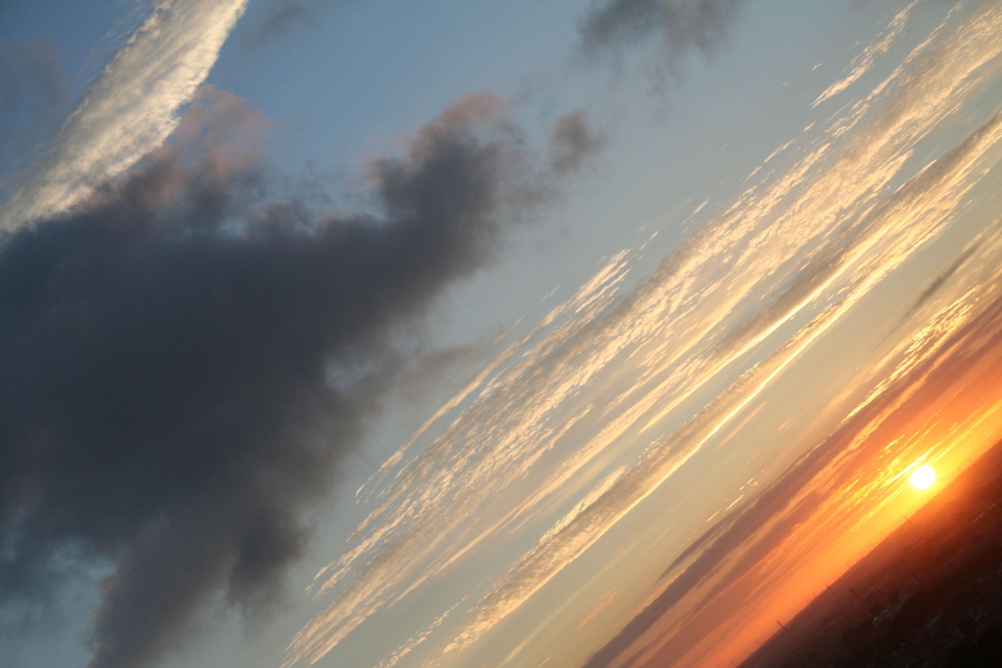 常陸の夜明けをひねってみました。