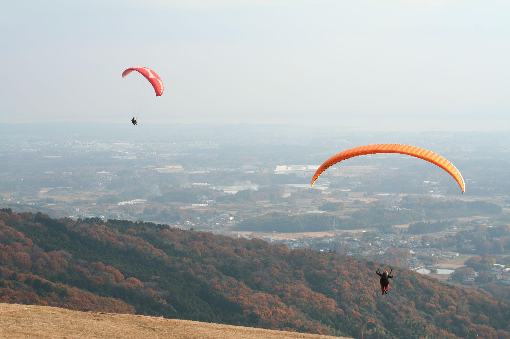 筑波山を飛ぶ1