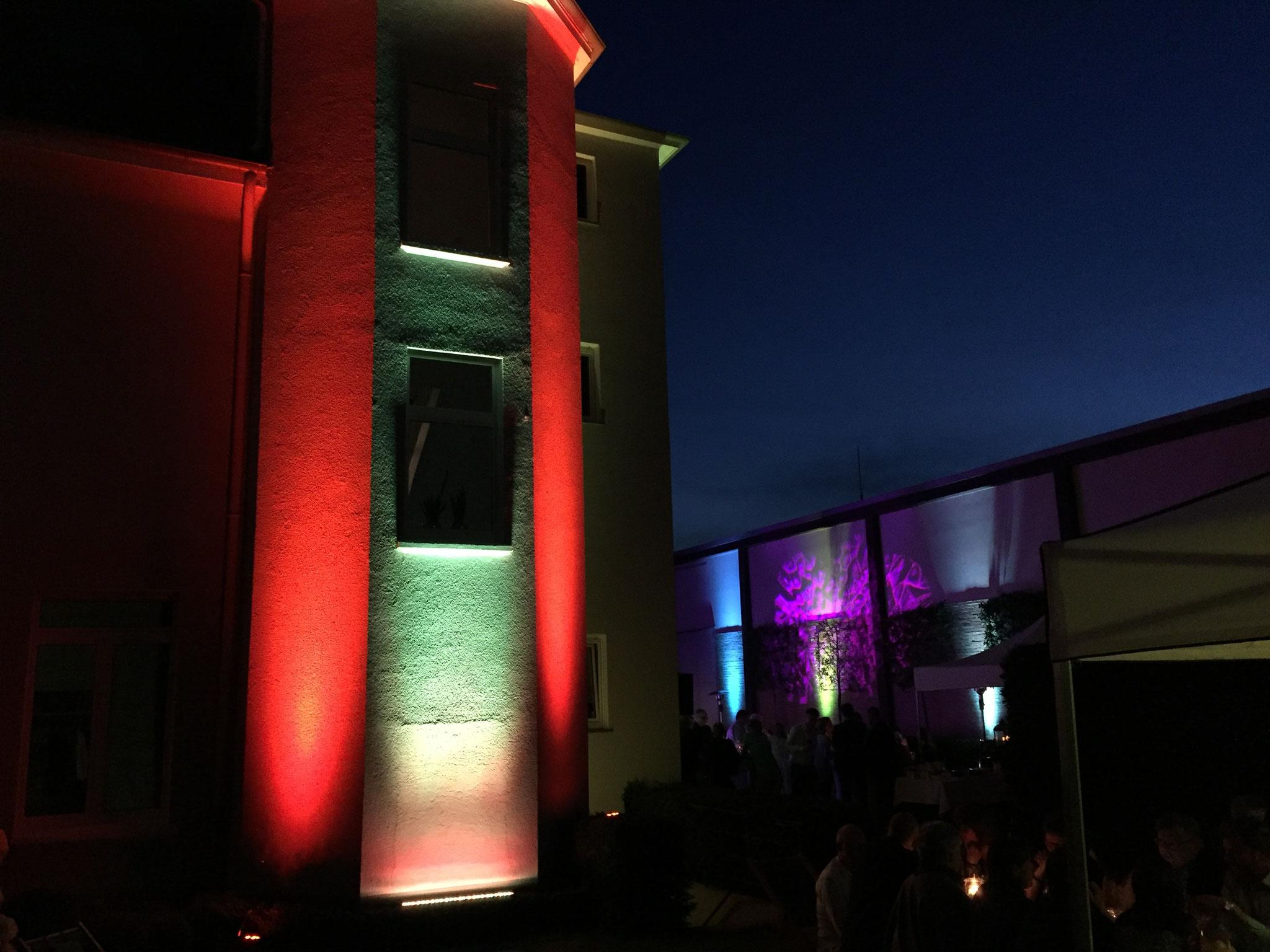 Gebäudebeleuchtung mit LED Spots