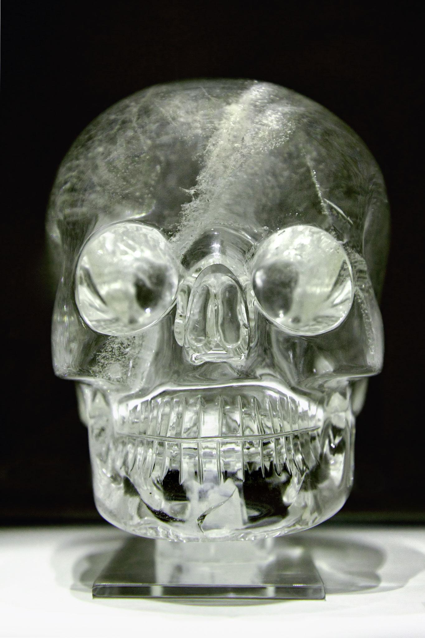 大英博物館のスカル(アステカ)