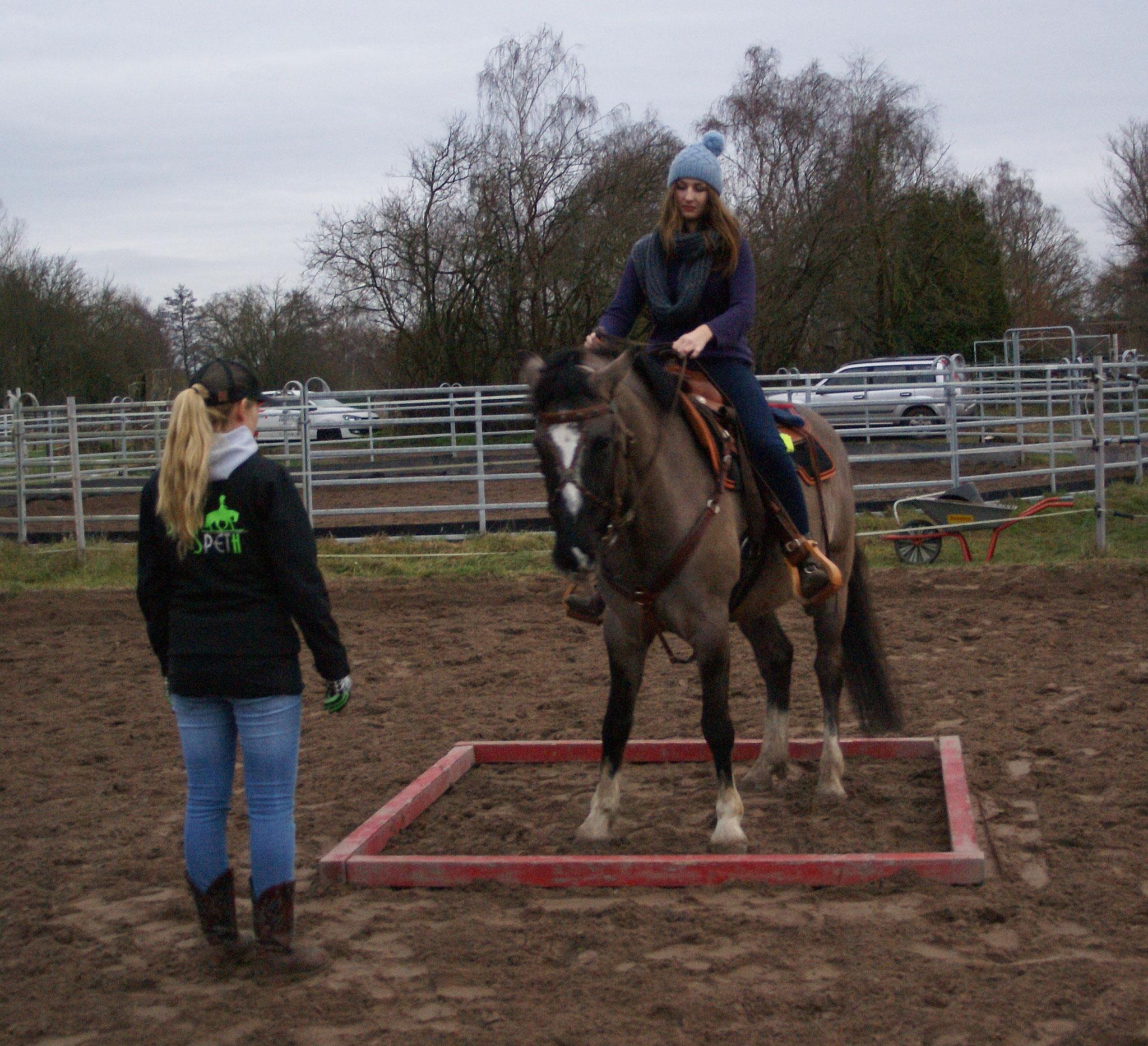 Trailunterricht mit Melanie