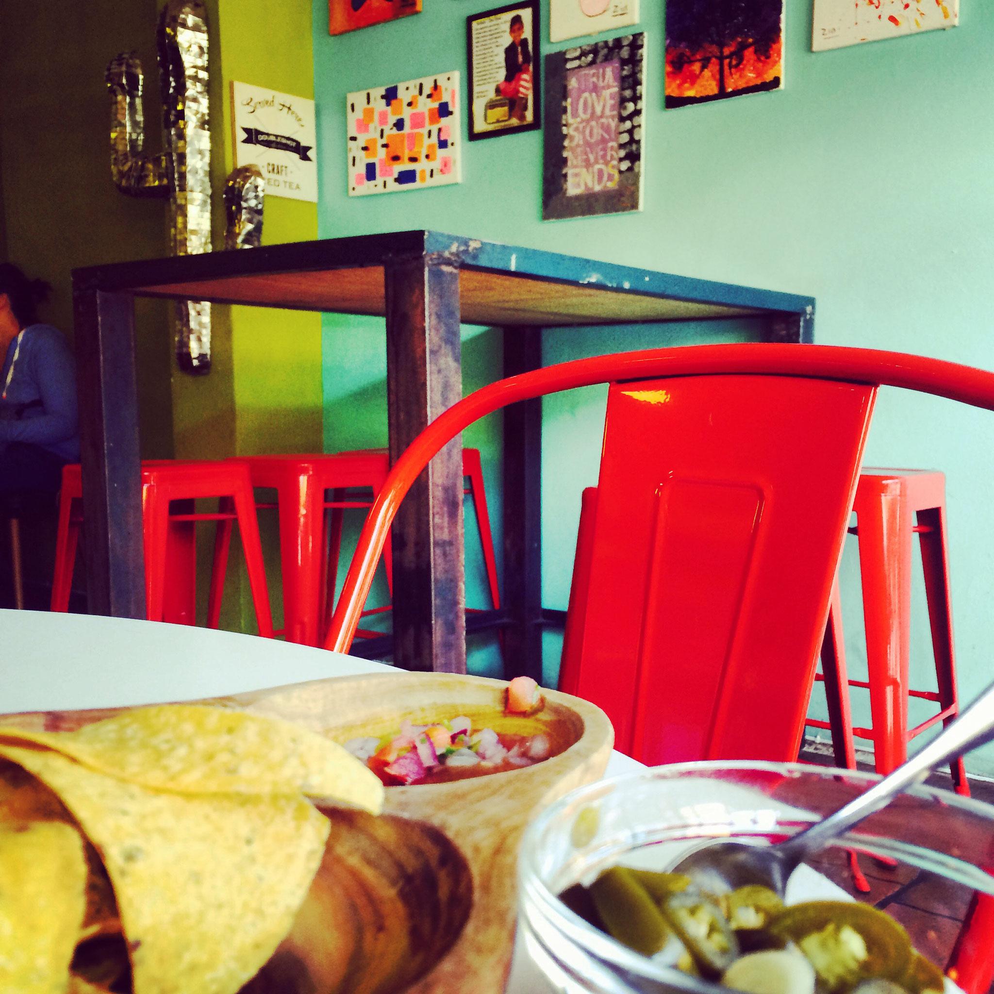 Mexican take aways at Baha Taco. Delicious!