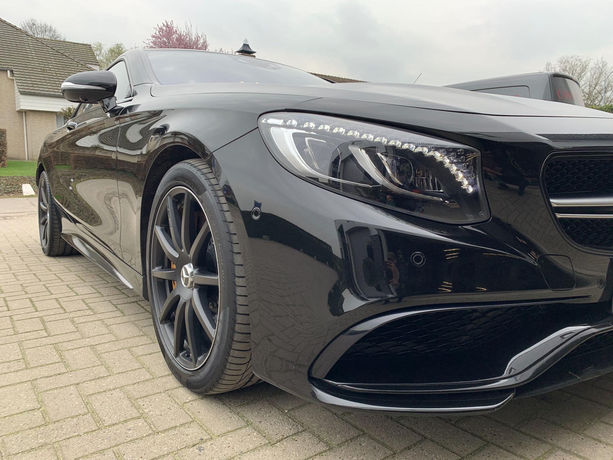 Merc. S63 AMG Coupe Full Detailing op locatie bij de dealer