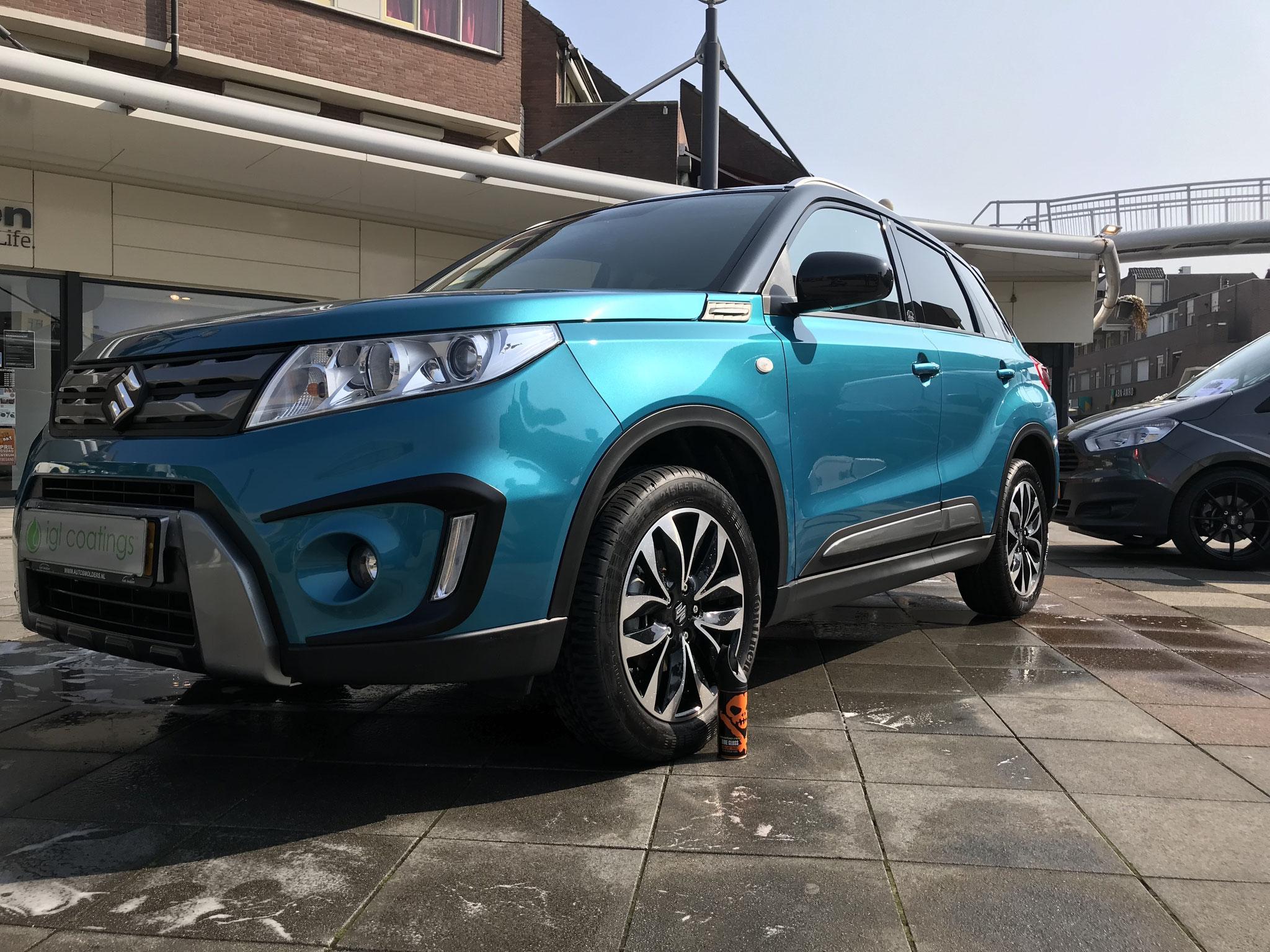 Suzuki Vitara op een demo dag in het City Centum Veldhoven, deze auto is door ons beschermd met IGL Coatings Kenzo!
