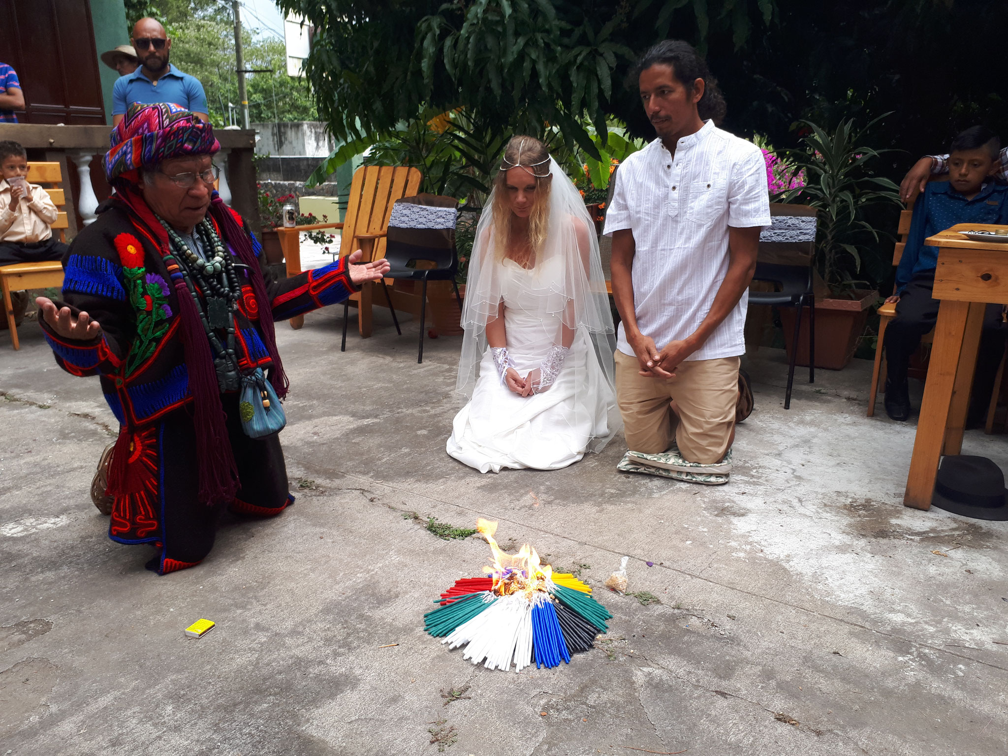 My sister's Mayan wedding ceremony