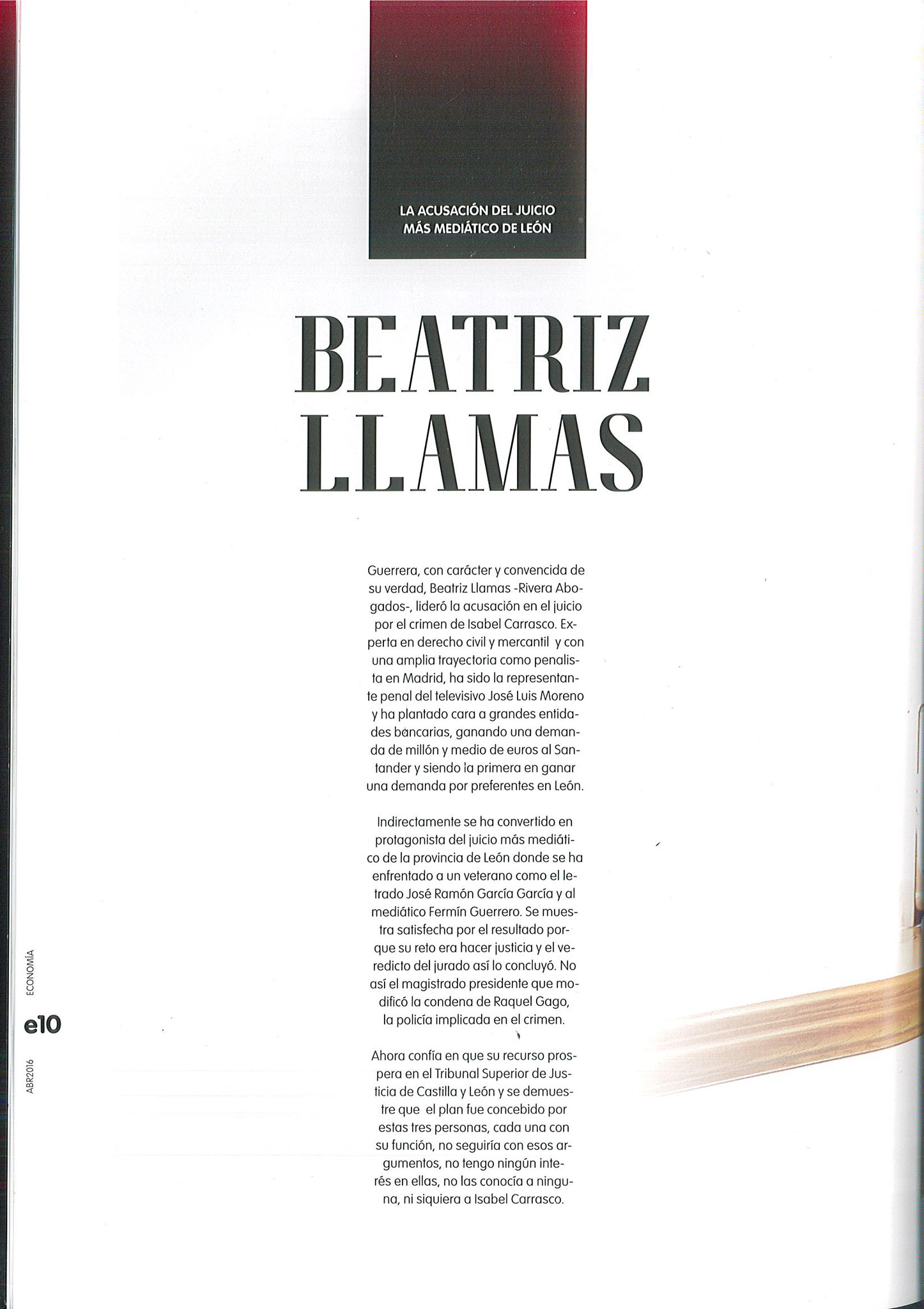 BEATRIZ LLAMAS ABOGADA