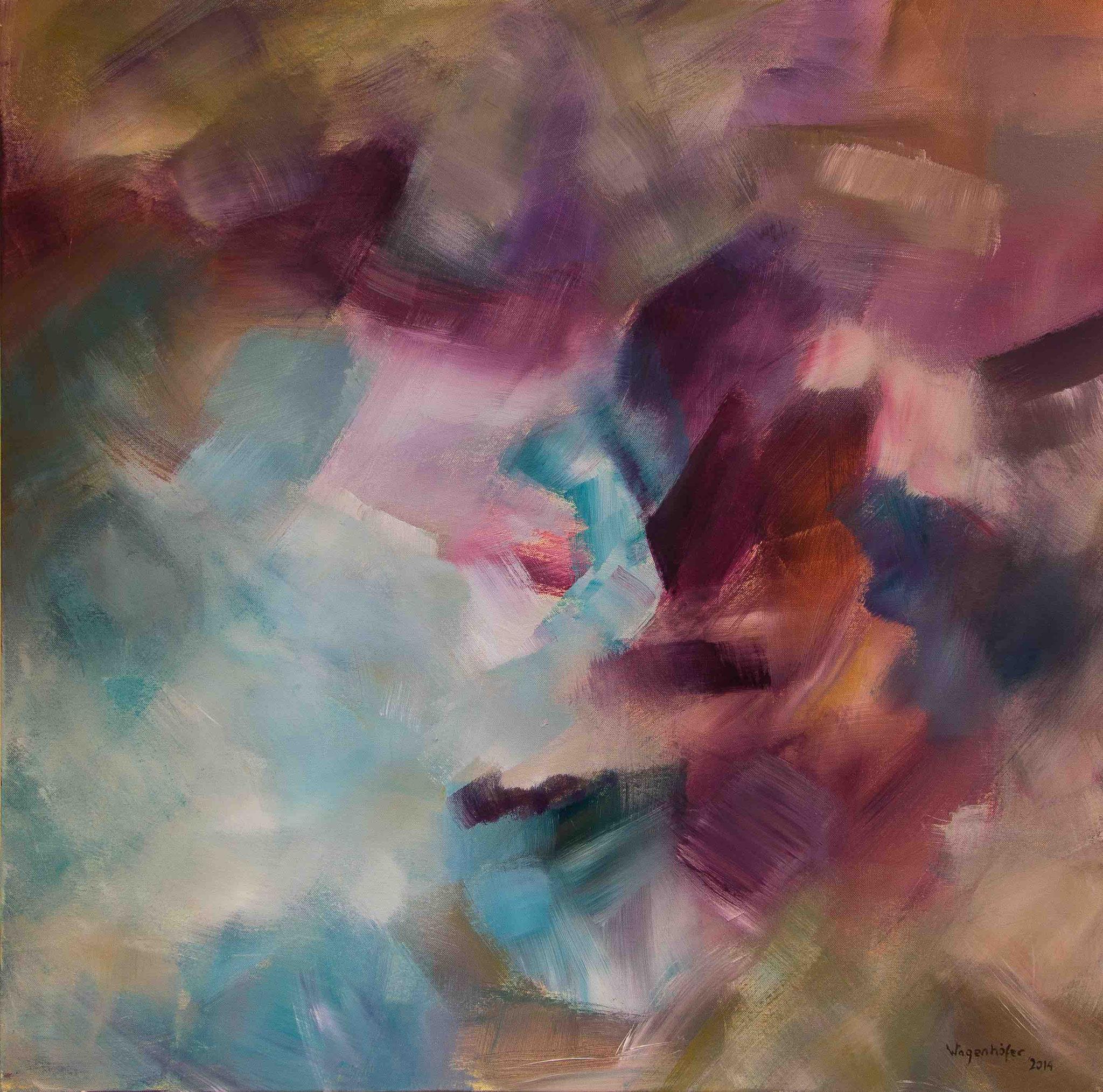 "Acryl auf Leinwand (80x80) | ""Herbstwind"""