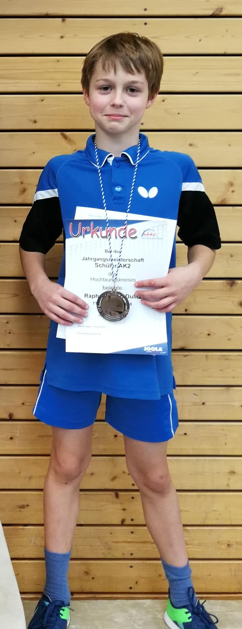 Raphael Dulitz gewann in der Altersklasse 2 die Bronzemedaille