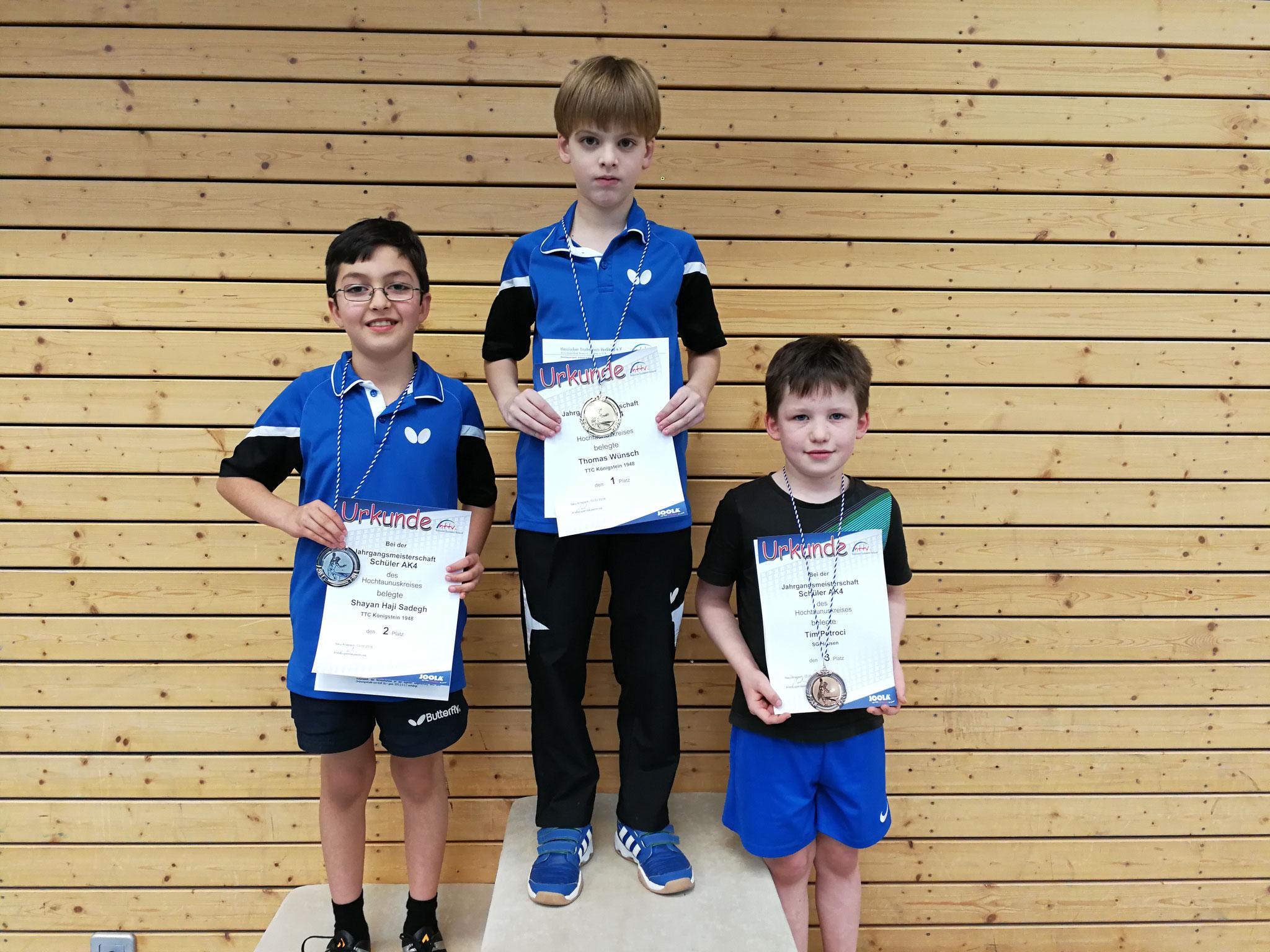 auch in der Altersklasse 4 gingen die vorderen Plätze an Königsteiner - Sieger wurde Thomas Wünsch, den zweiten Platz belegte Shayan Haji-Sadegh