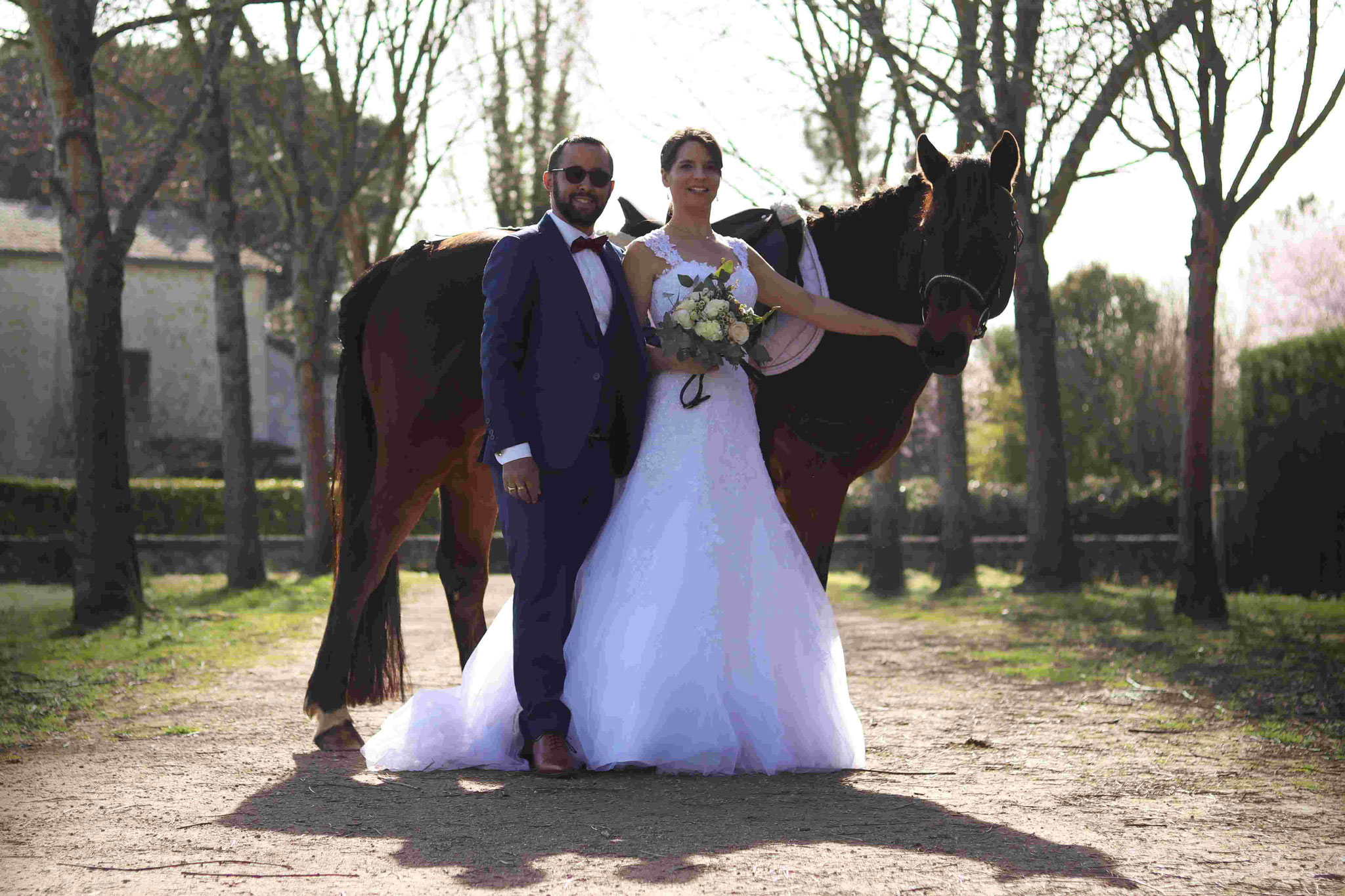 Shooting mariage Laurine, Anthony et Caporal