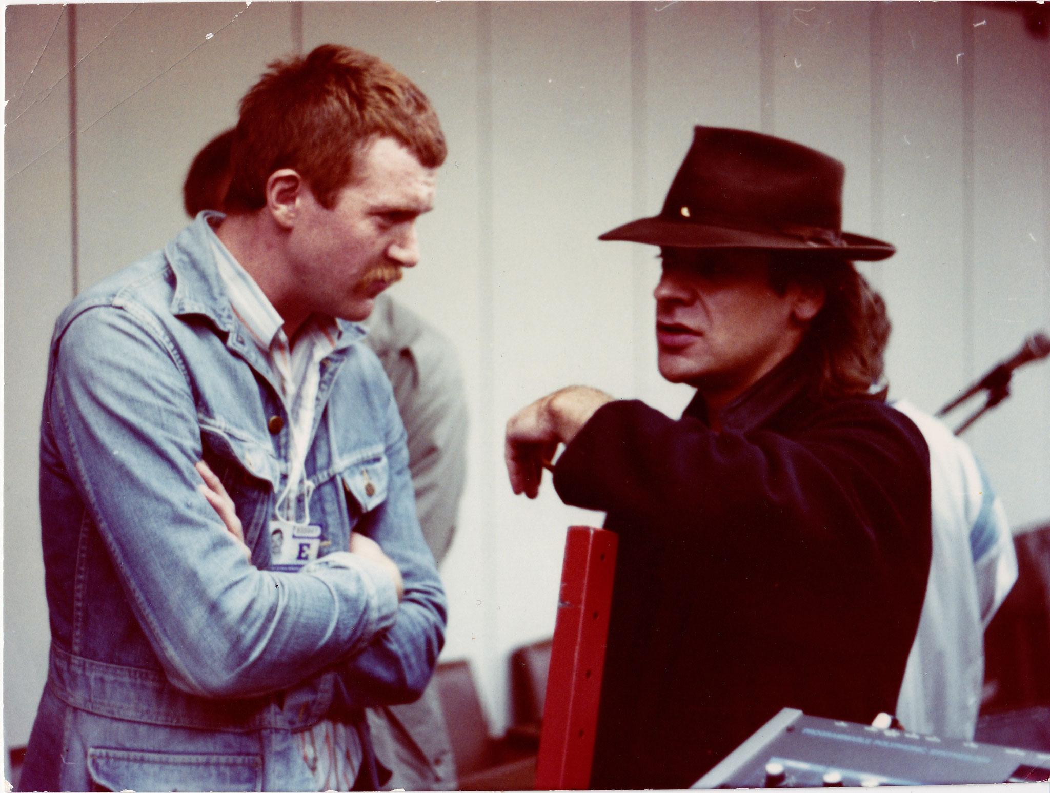 Dreharbeiten mit Udo Lindenberg, 1985