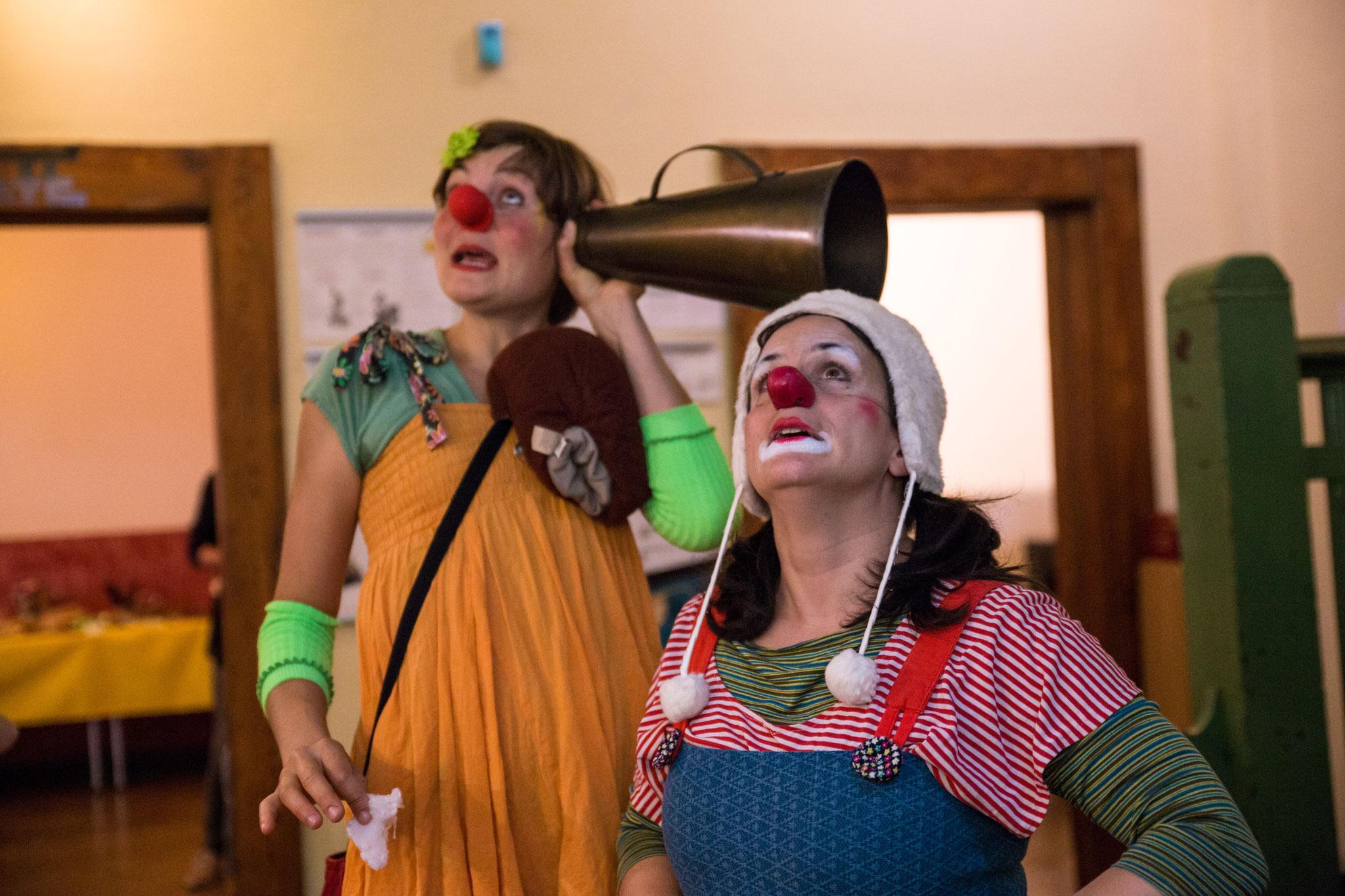 Die Clowninnen Ciboulette & Olivia fingen die Träume unserer Gäste ein