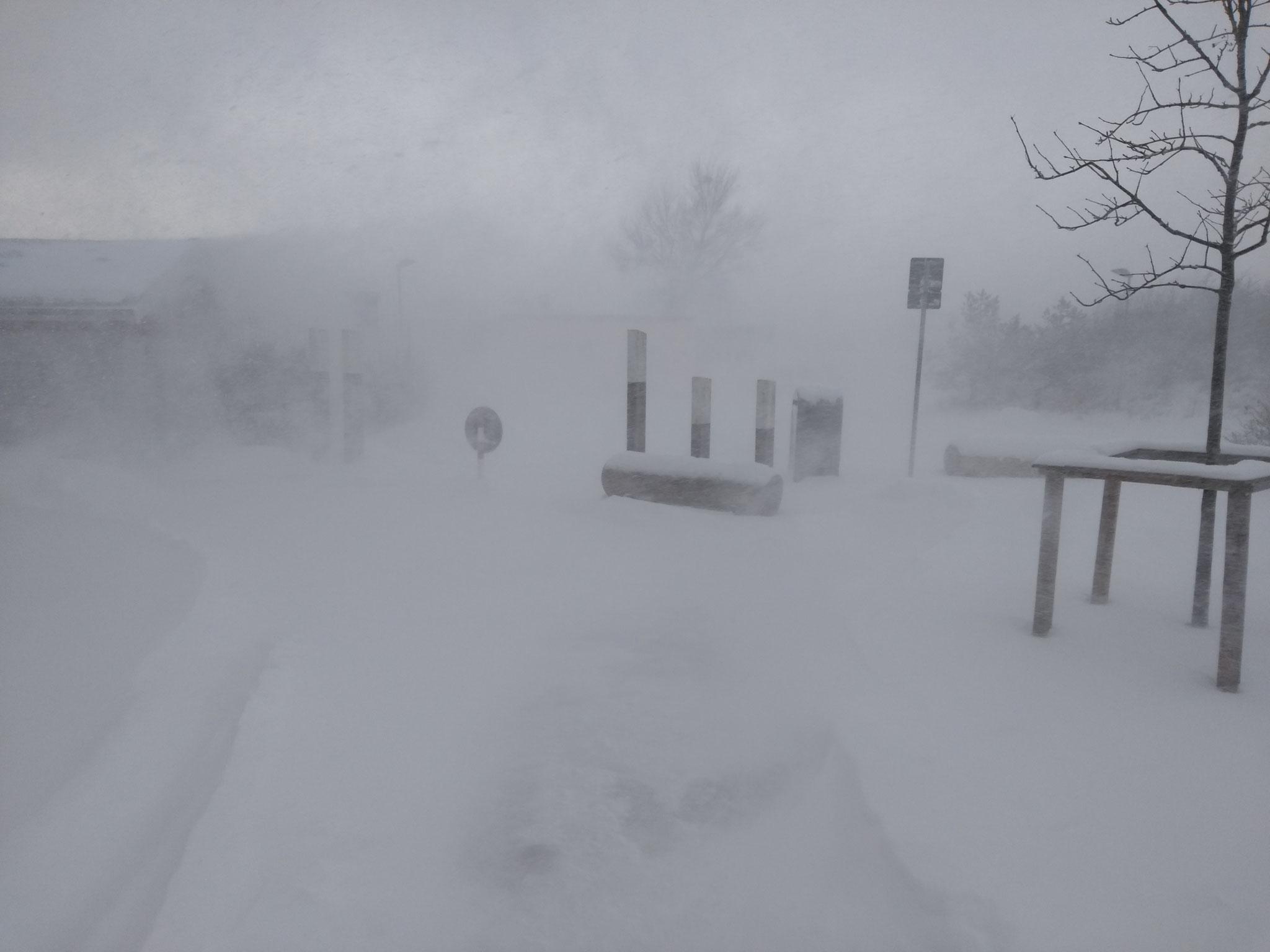 Nach dem Schneesturm am Dienstag 9/2/21 war