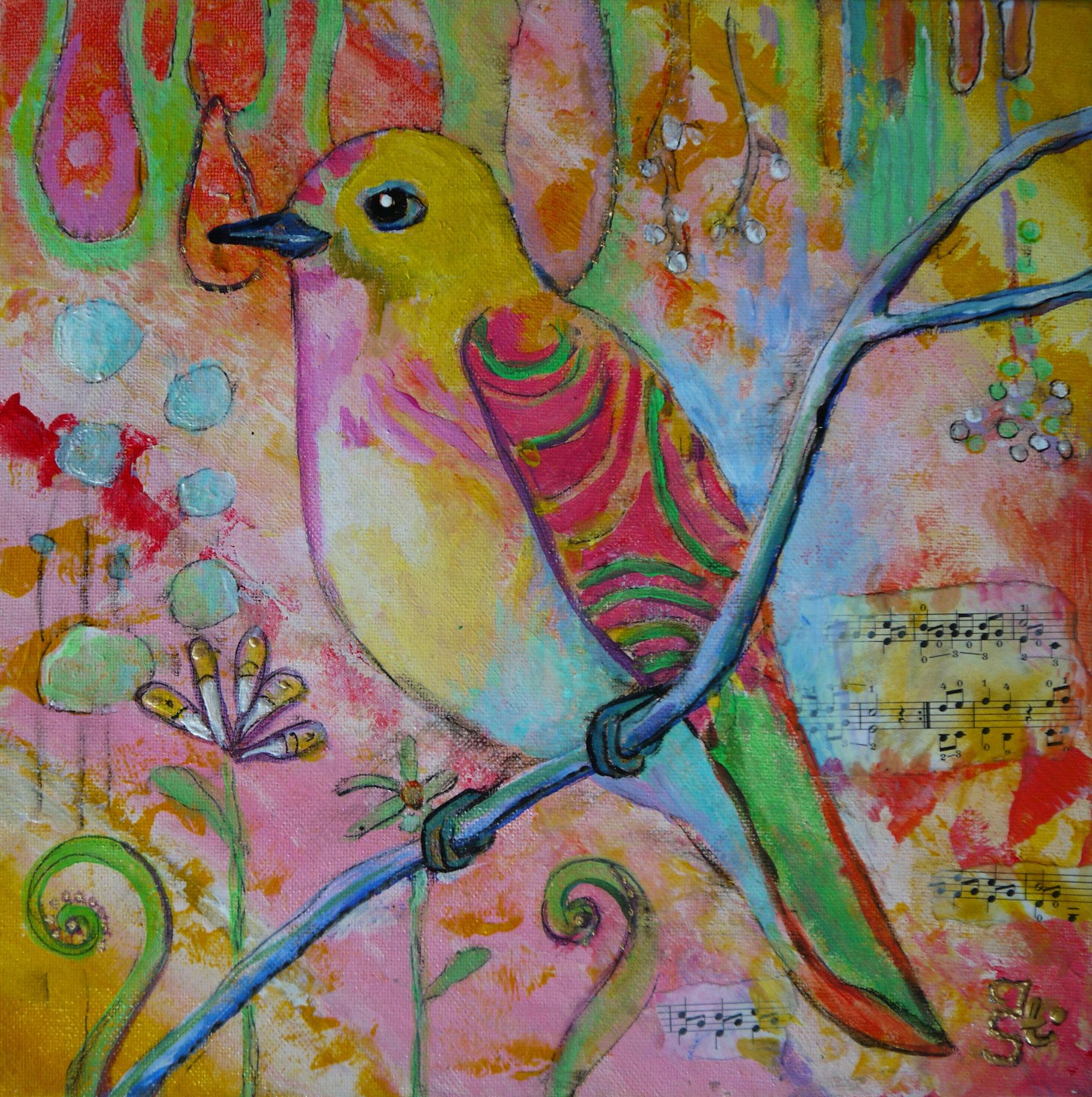 SING MY SONG, Acryl auf Leinwand, 30 x 30 cm, 48 Euro