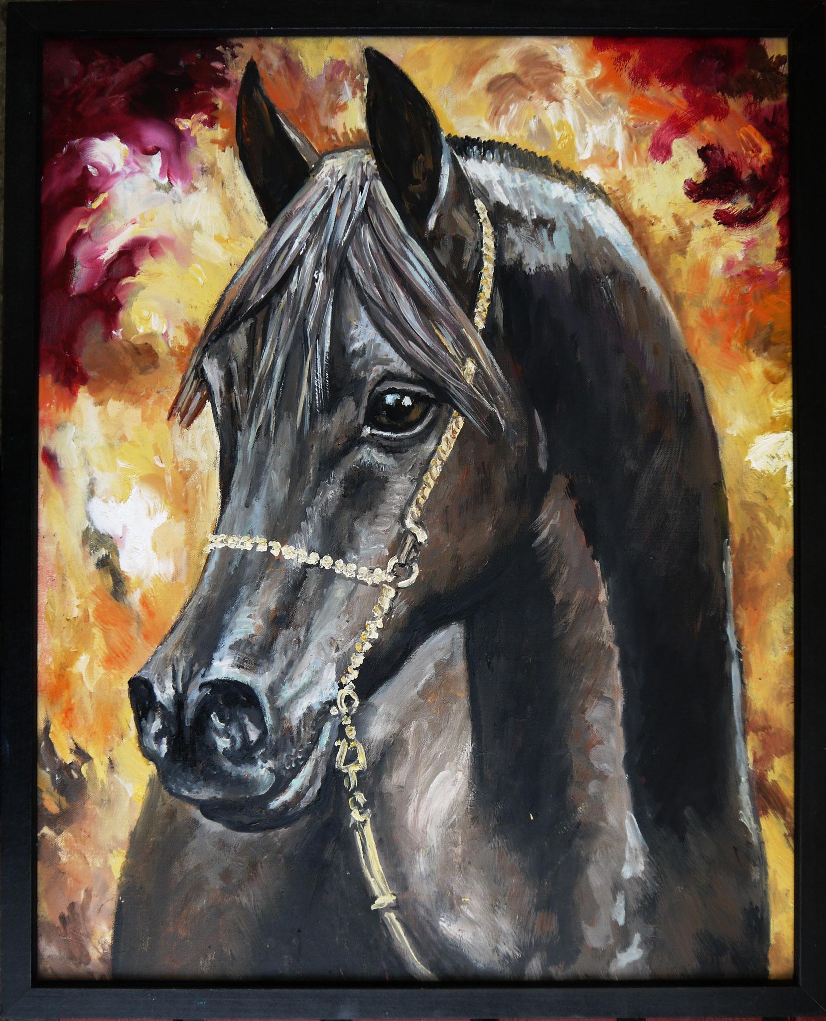 Jezebel, Öl, in schwarzem Rahmen, 40 x 50 cm, 180 Euro