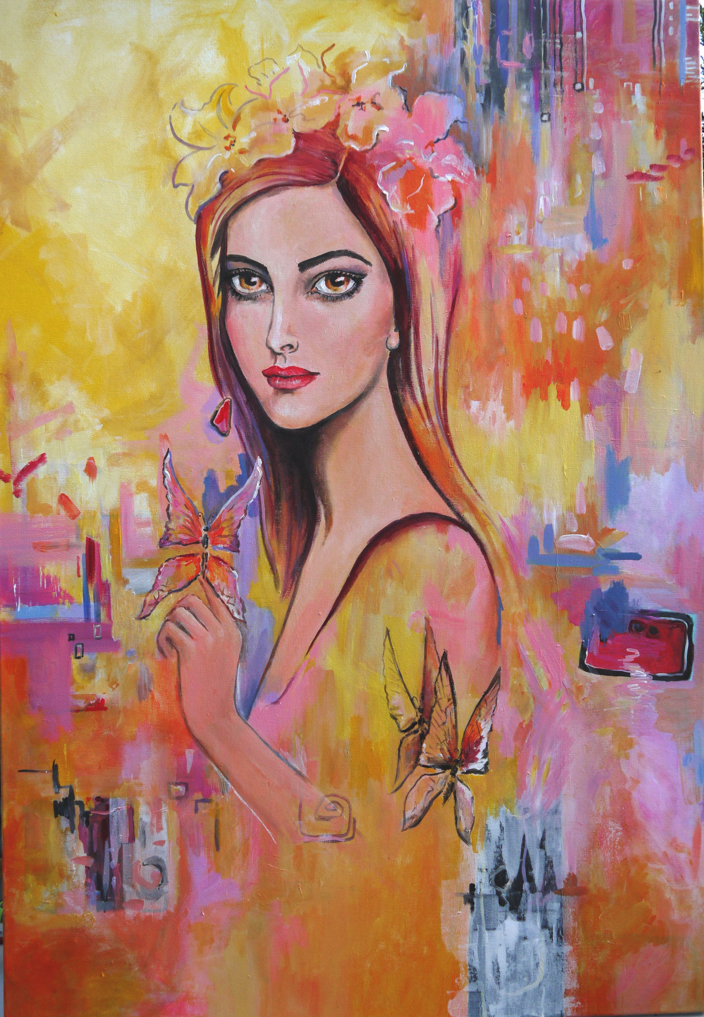 Madame Butterfly, 90 x 130 cm, 580 Euro