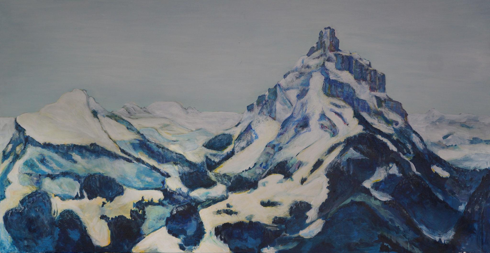 Mürtschenstock, 140cm x 74cm, Acryl auf Leinwand, 2012