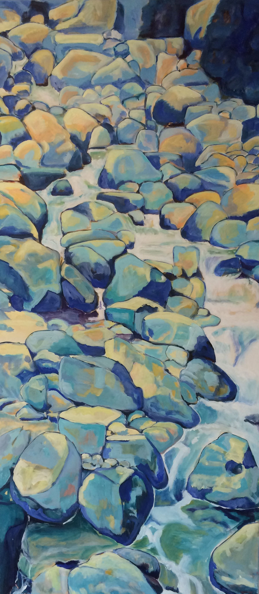 Wasserlauf, 65cm x 146cm, Acryl auf Leinwand, 2012