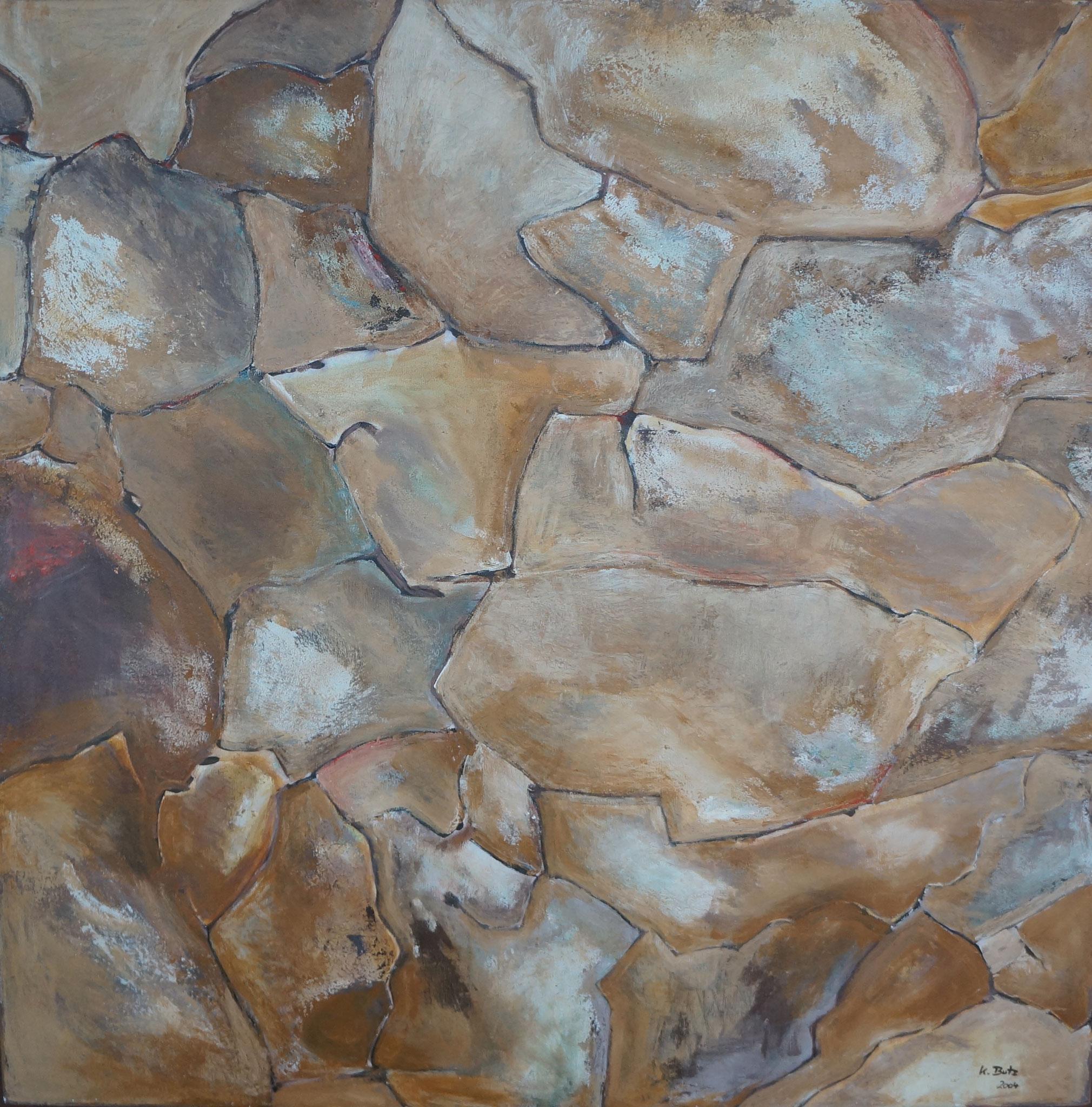 Erde, 100cm x 100cm, Acryl auf Leinwand, 2004
