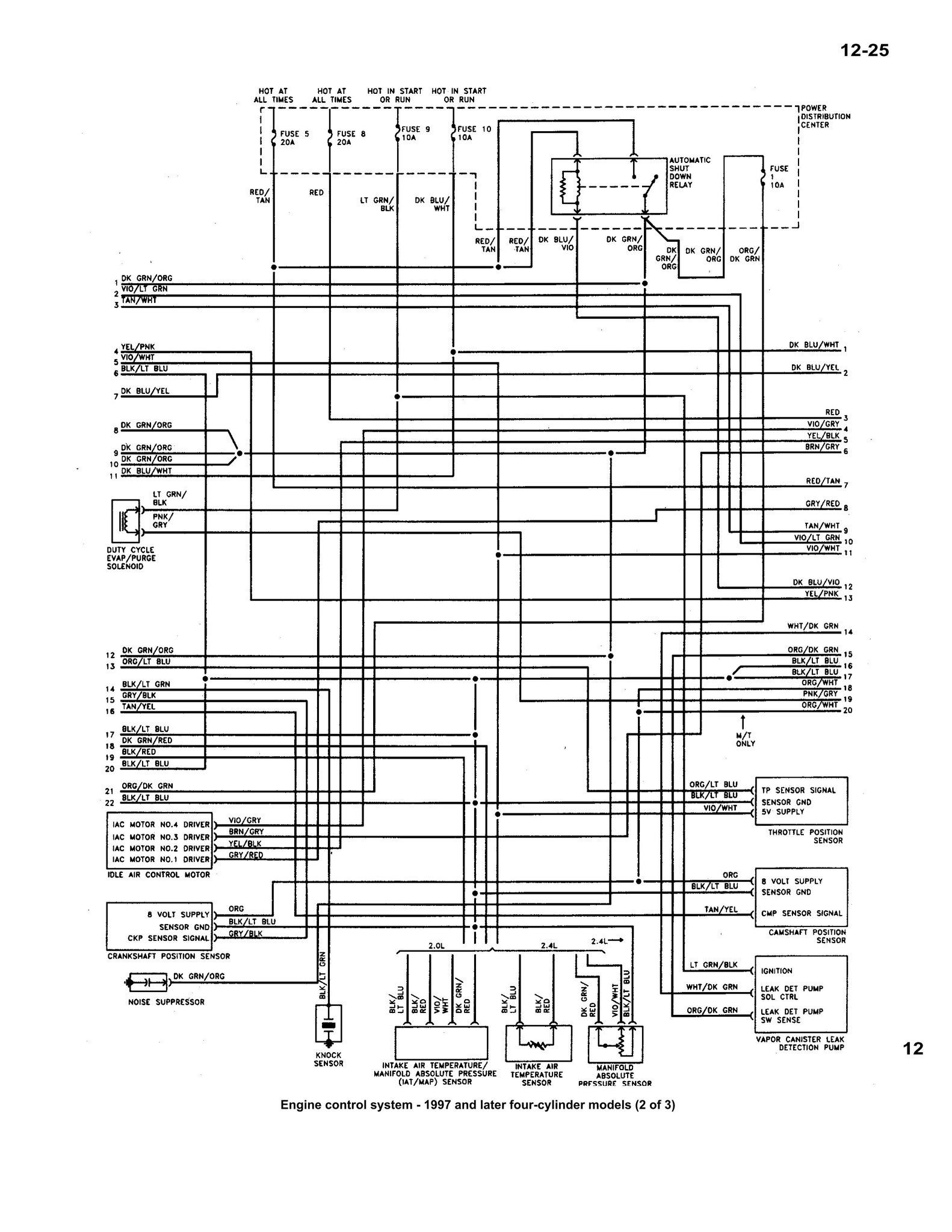 Wiring Diagram 1995 Plymouth Voyager