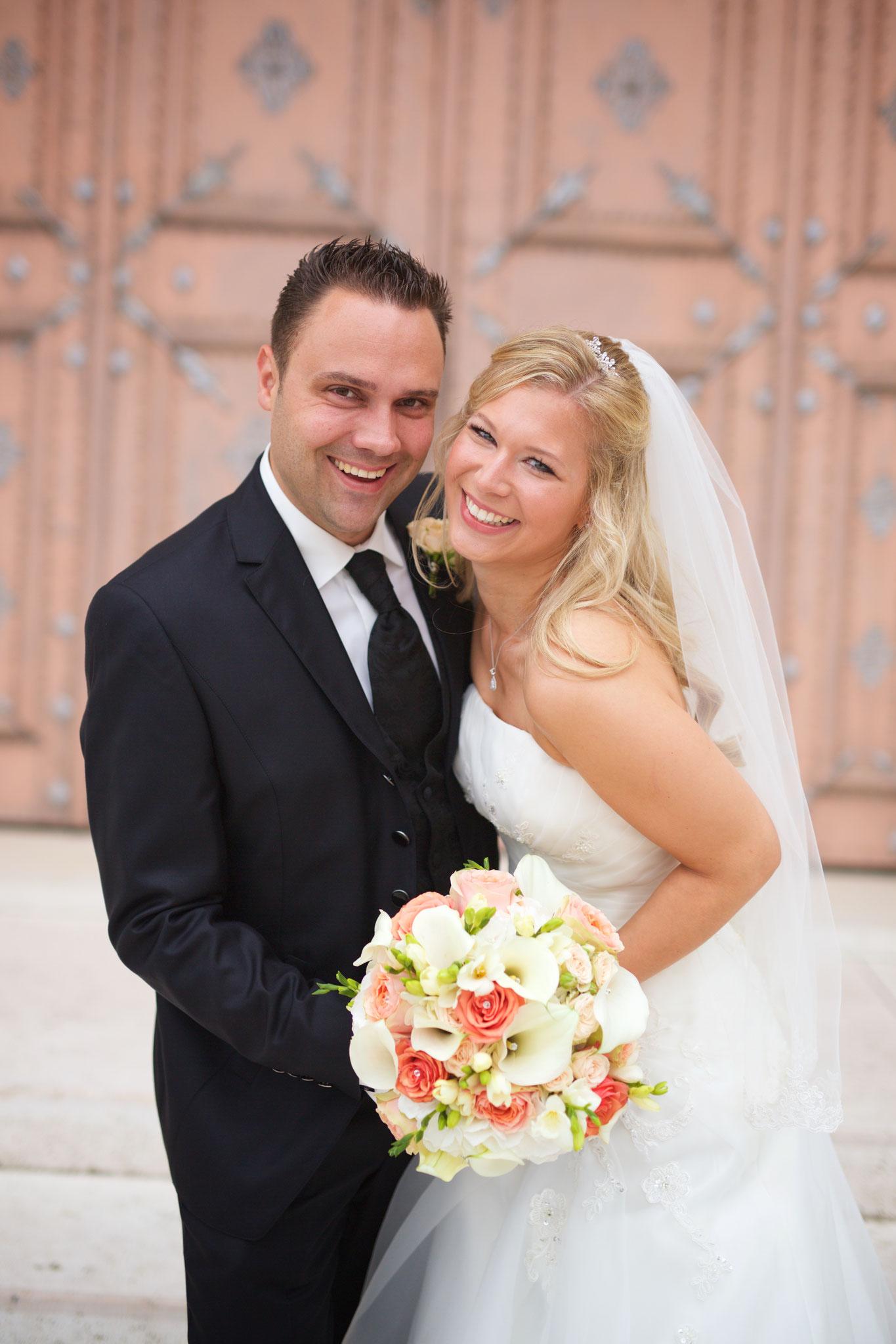 Herzlichen Glückwunsch dem Brautpaar