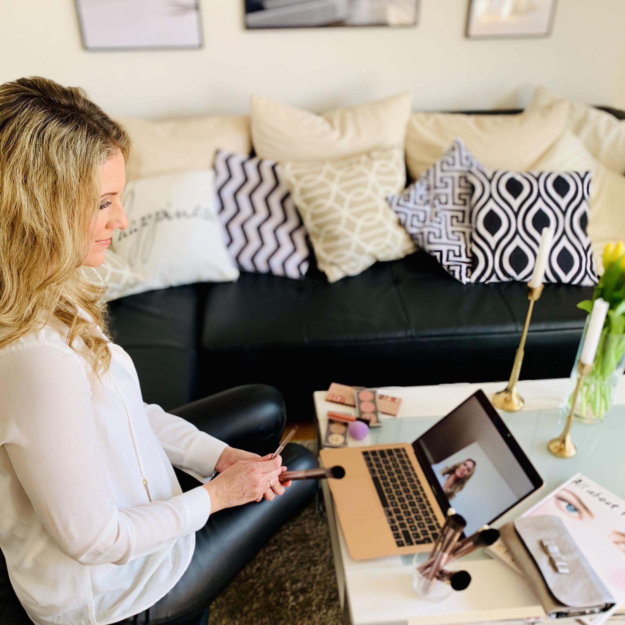 In Deiner Wohlfühlen Oase Zuhause - Online Make-Up Coaching