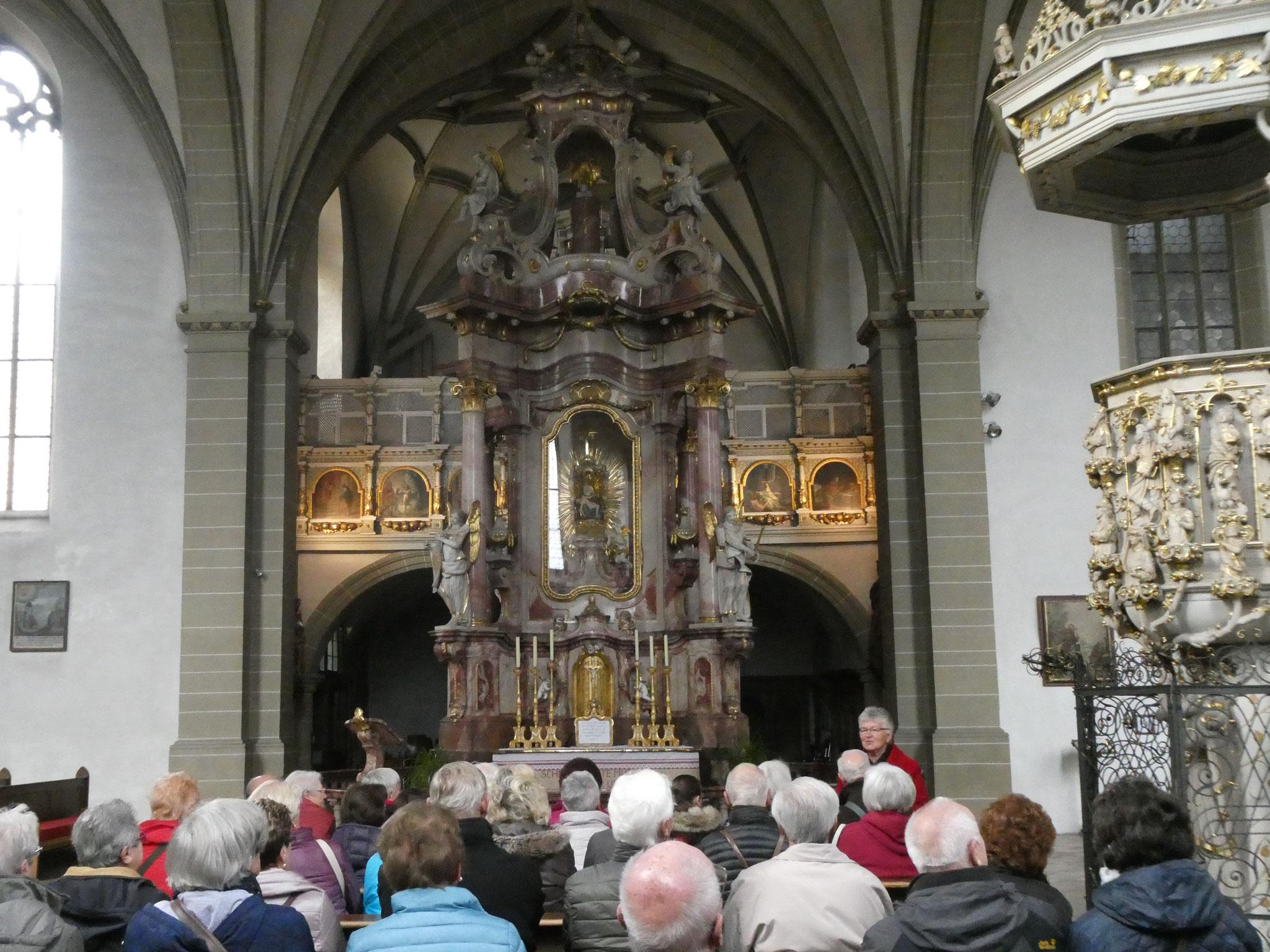 Erläuterungen in der Wallfahrtskirche