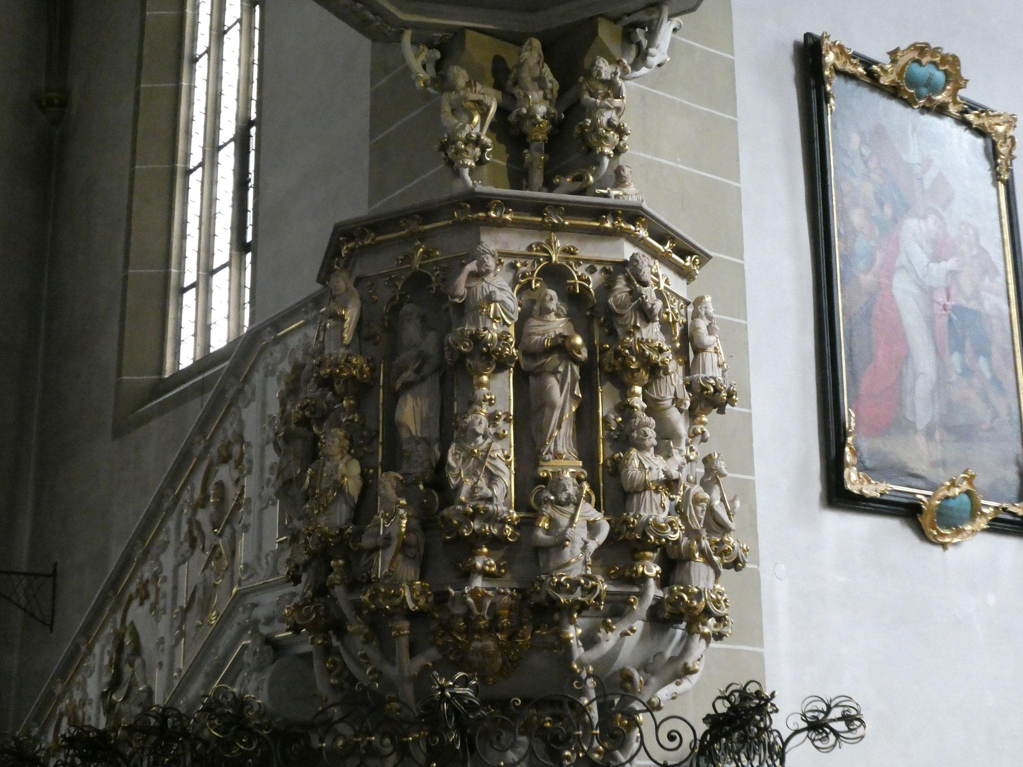 Die Kanzel in der Wallfahrtskirche ist ein wundervolles Kunstwerk