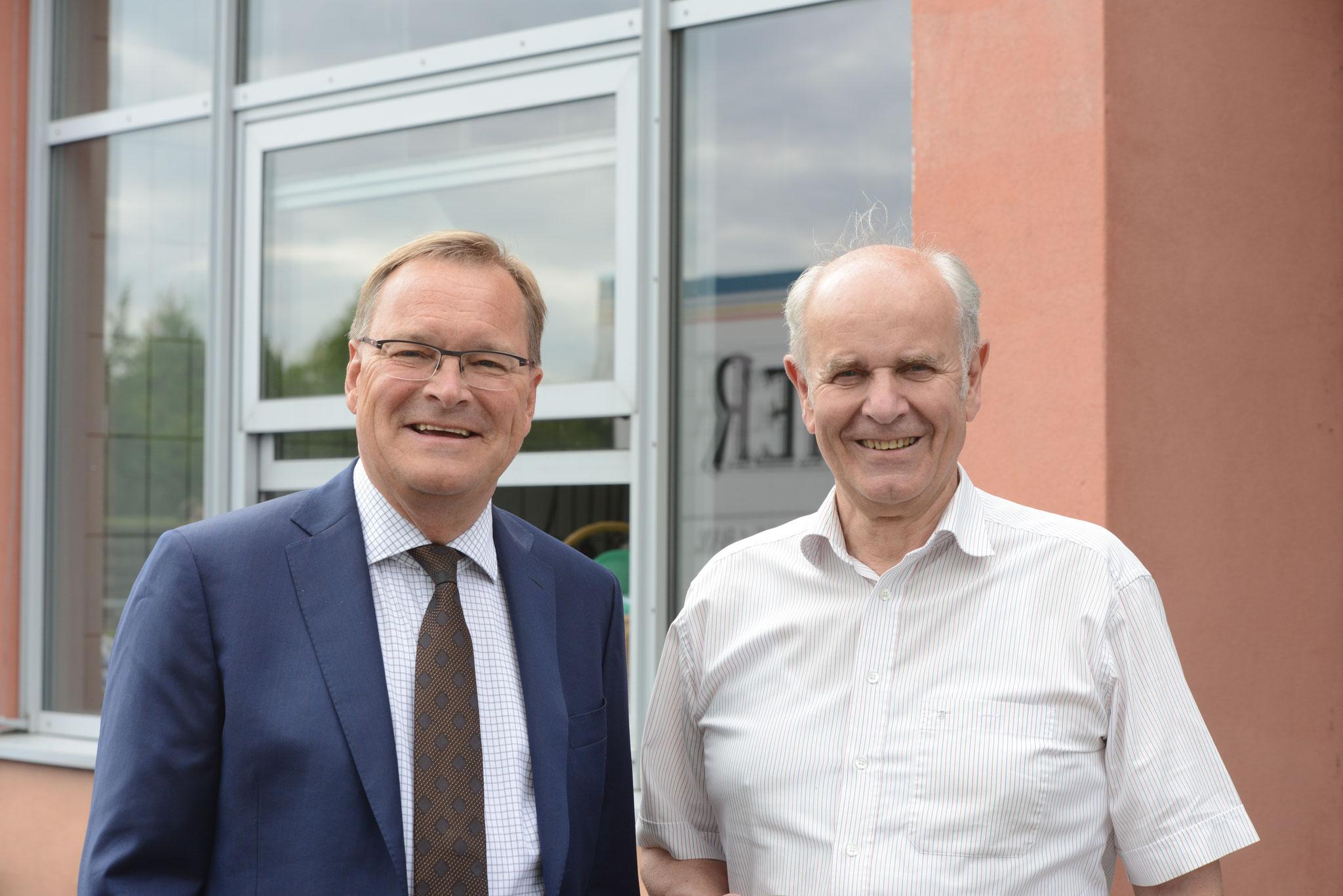 OB Andreas Starke und Amtsvorgänger Herbert Lauer