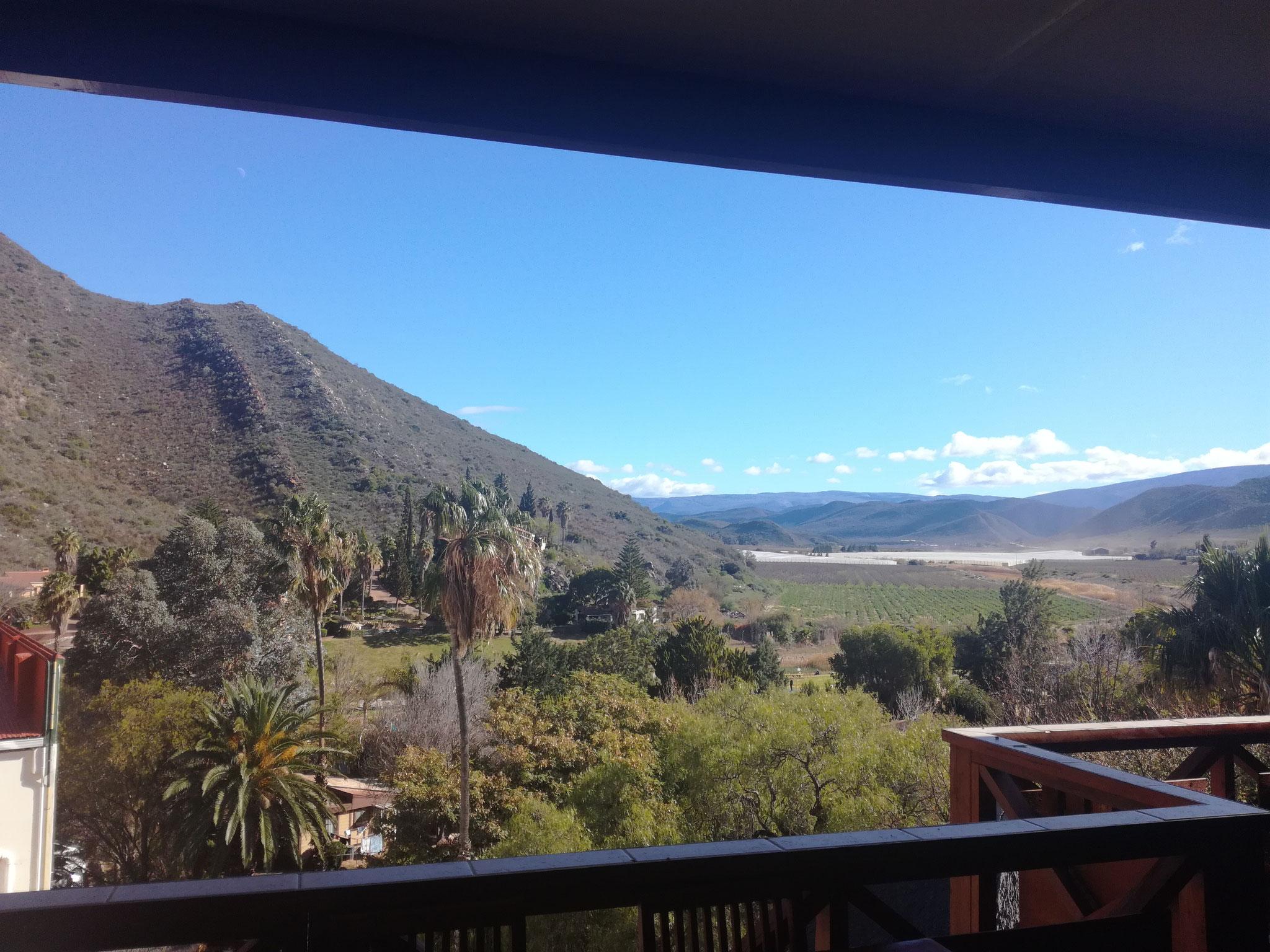 Nochmal der Blick vom Balkon